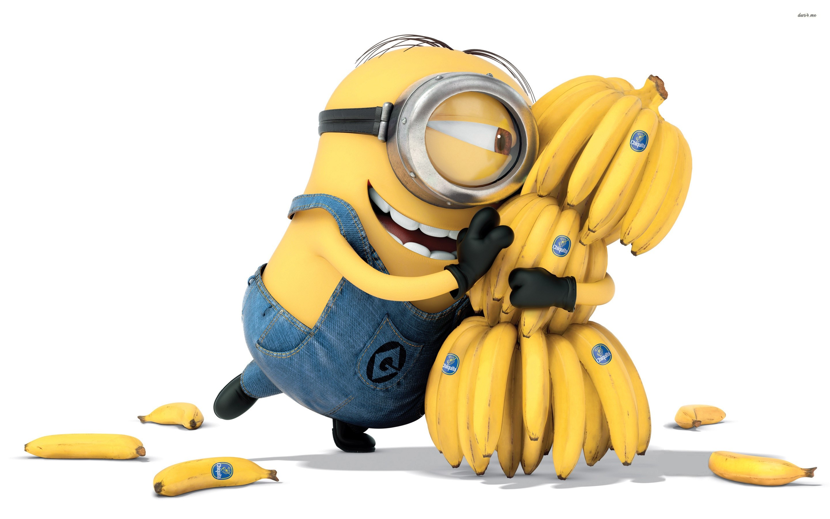Wallpaper A minion with bananas