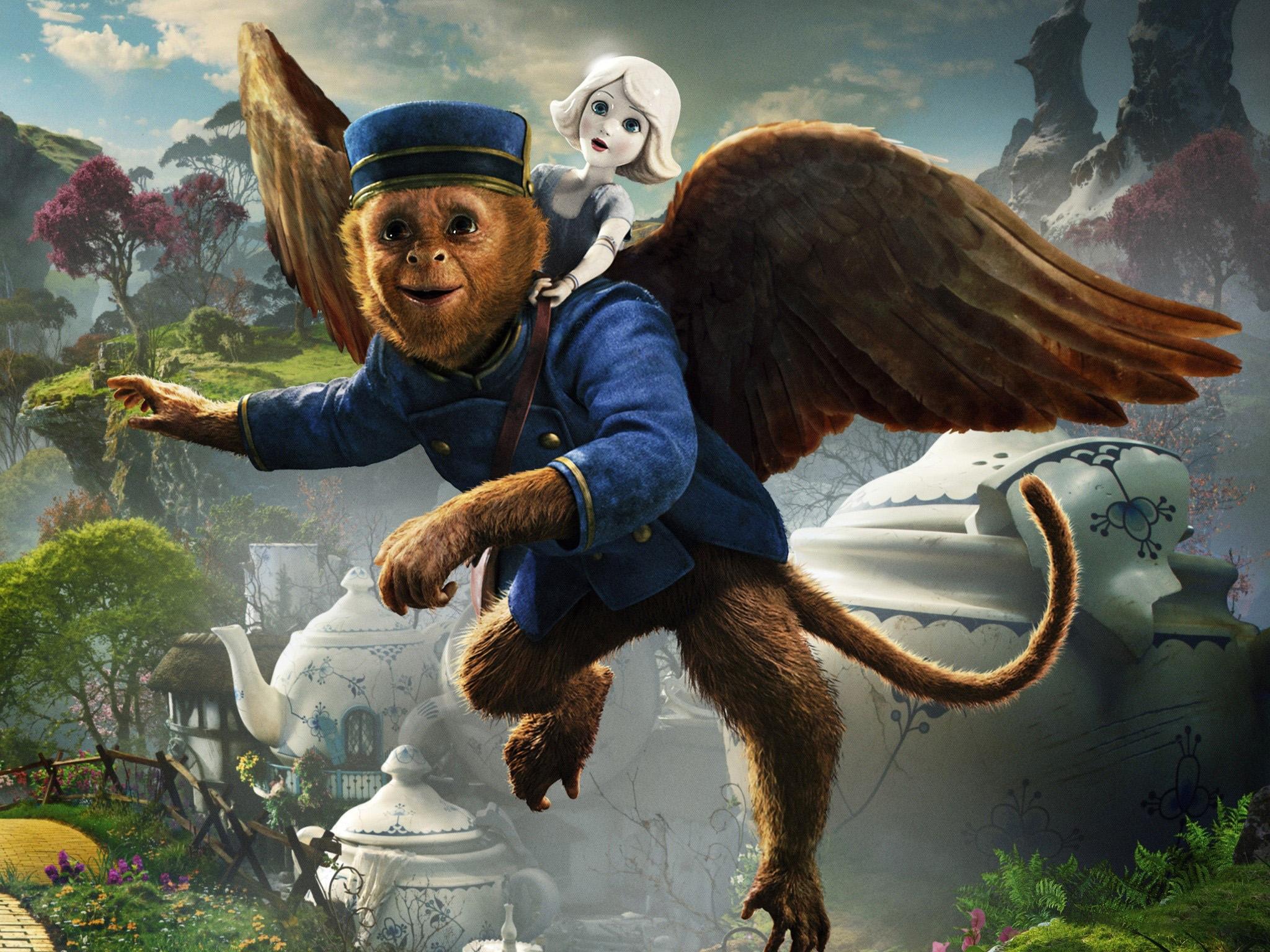 Fondos de pantalla Un mono volador y una muñeca