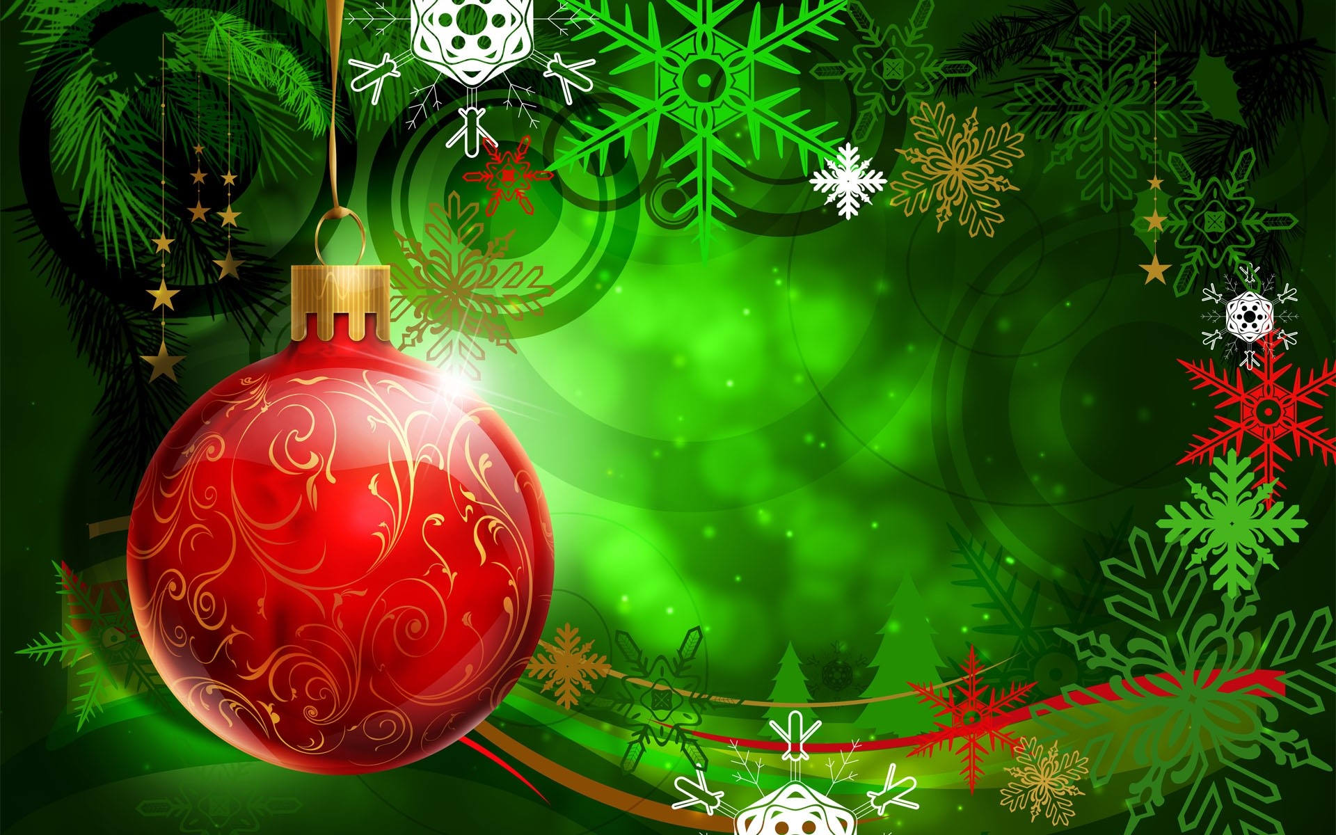 Wallpaper A colorful Christmas