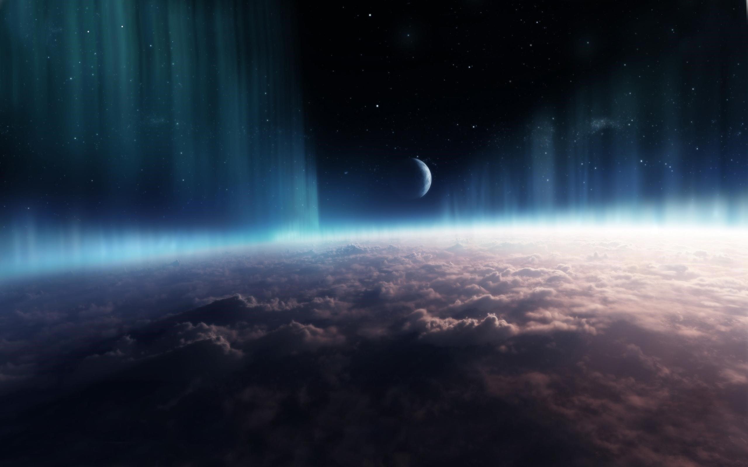 Fondos de pantalla Universo - Espacio con nubes