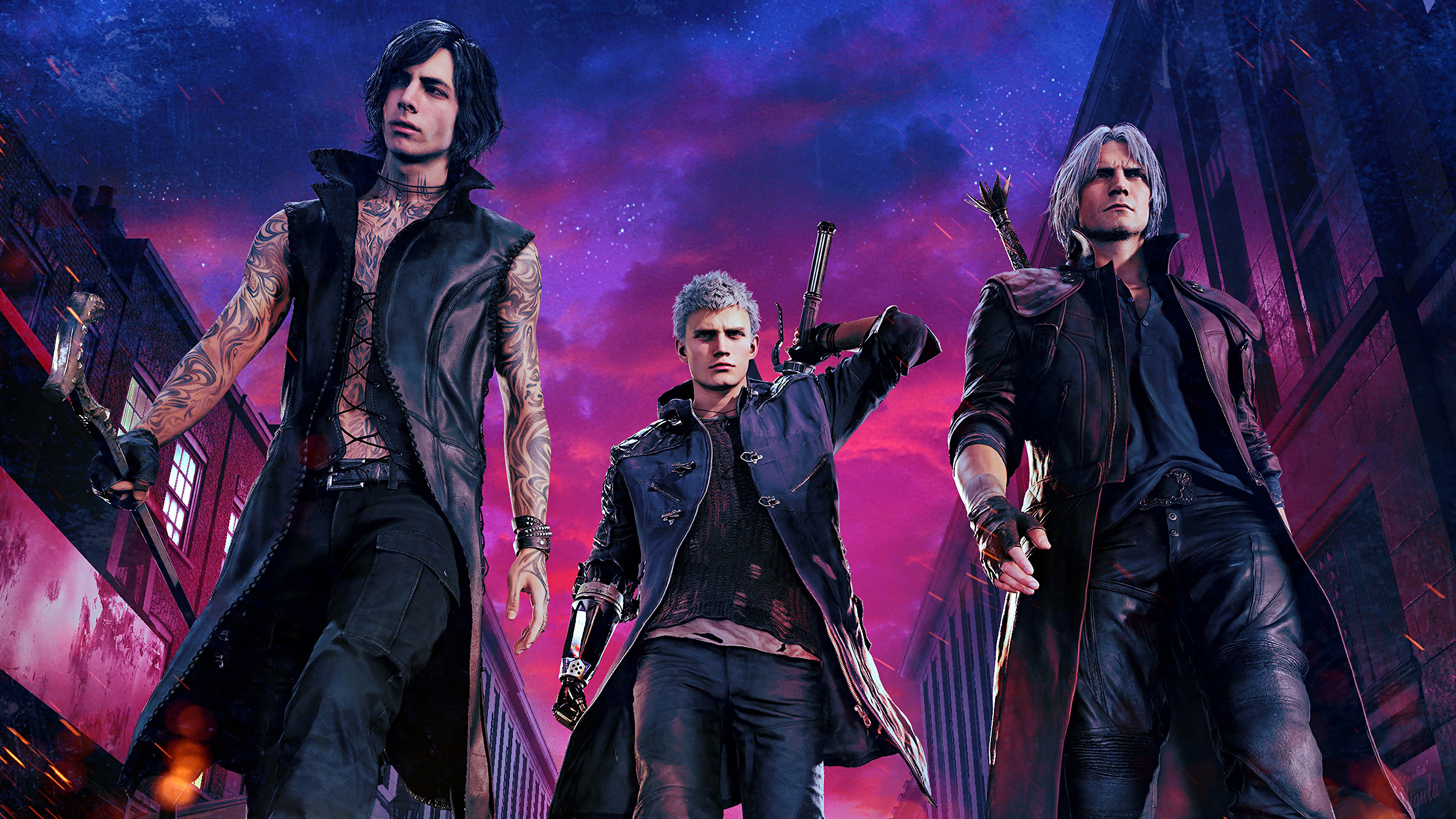 V Nero And Dante From Devil May Cry 5 Wallpaper 4k Ultra Hd