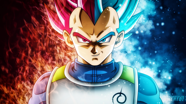 Fondos de pantalla Anime Vegeta Saiyan Blue y Saiyan God Dragon Ball Super