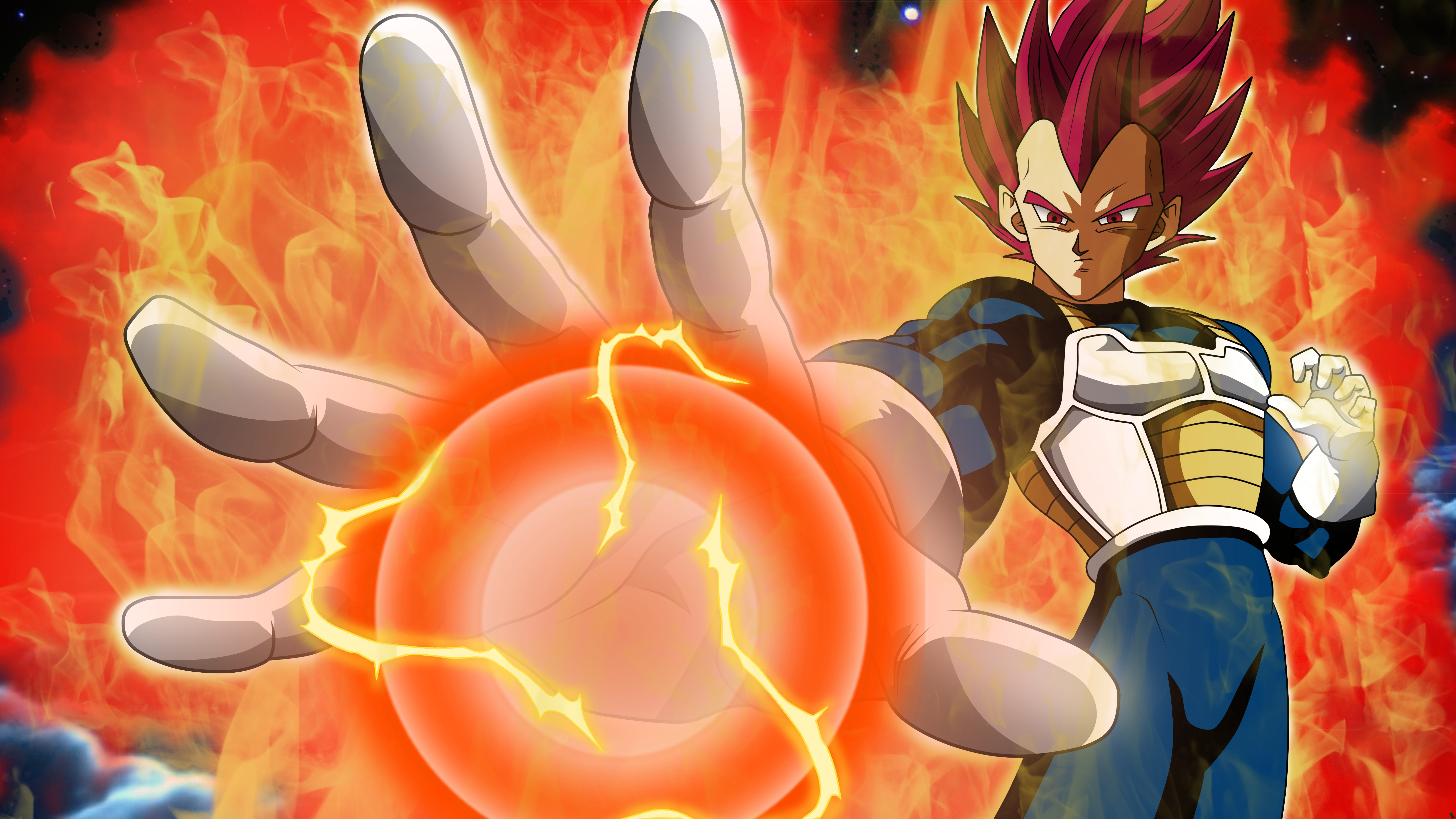 Anime Wallpaper Vegeta SSJG Super Saiyan God from Dragon Ball