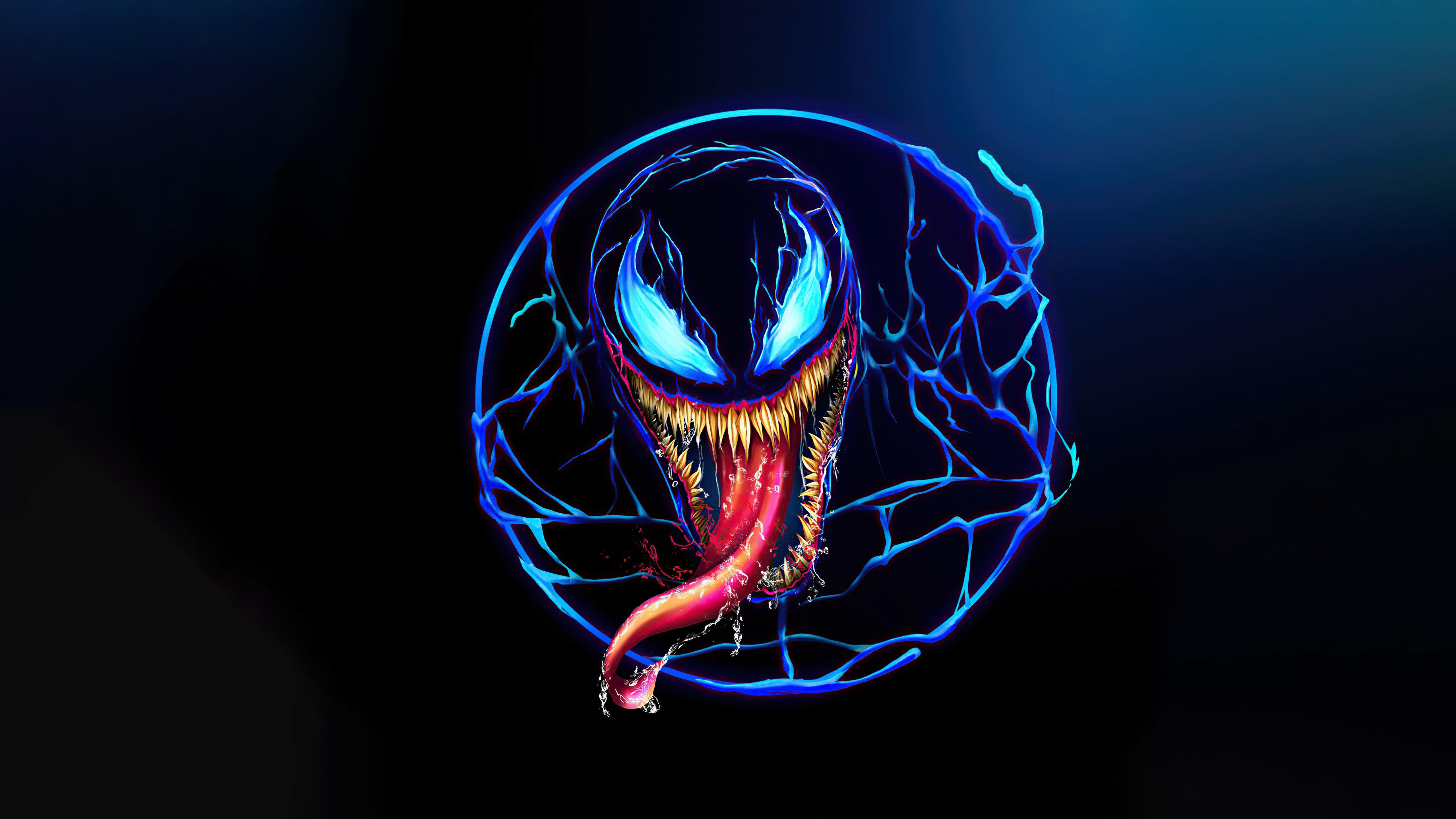 Wallpaper Venom Neon Design
