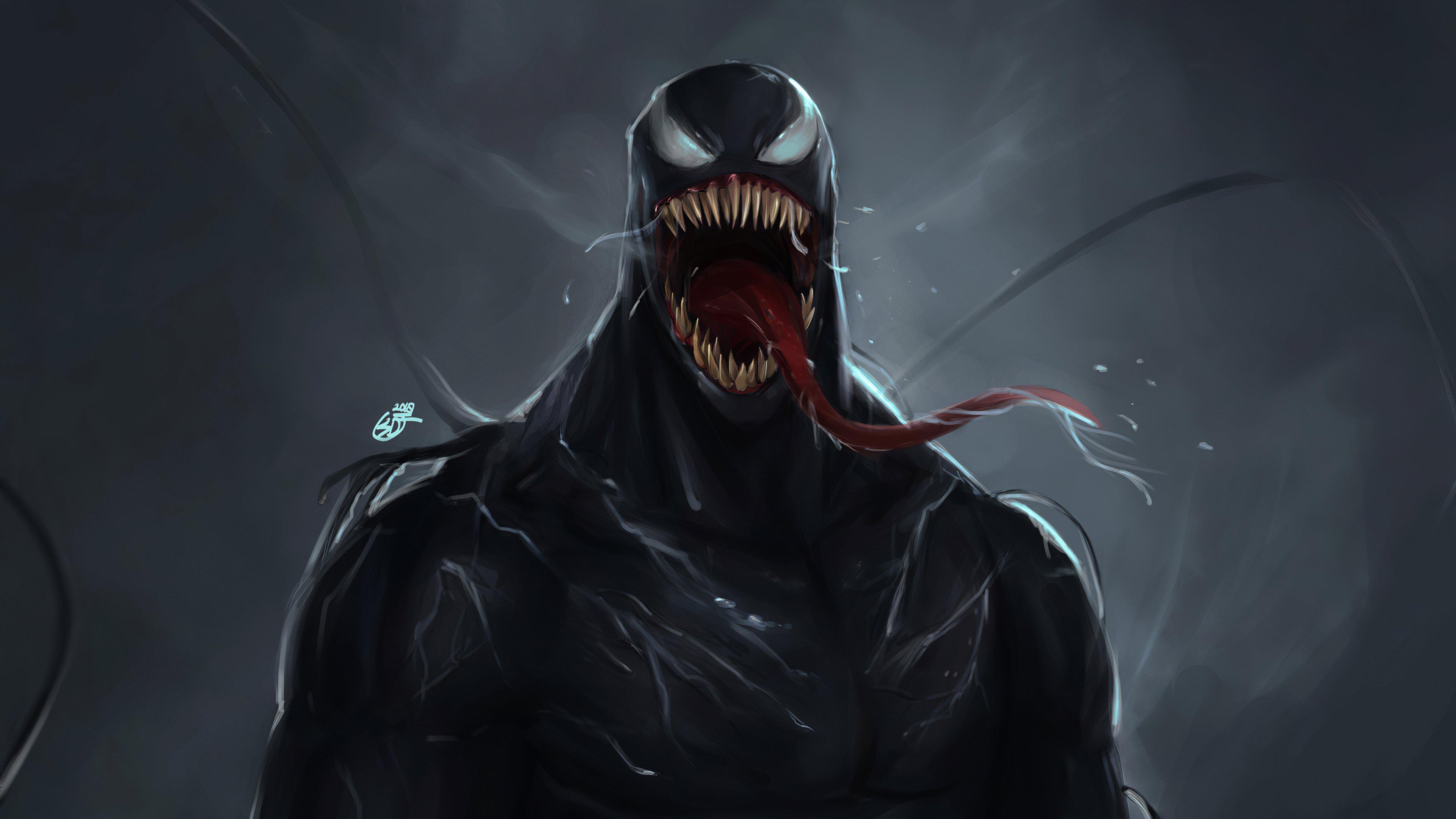 Wallpaper Venom Illustration