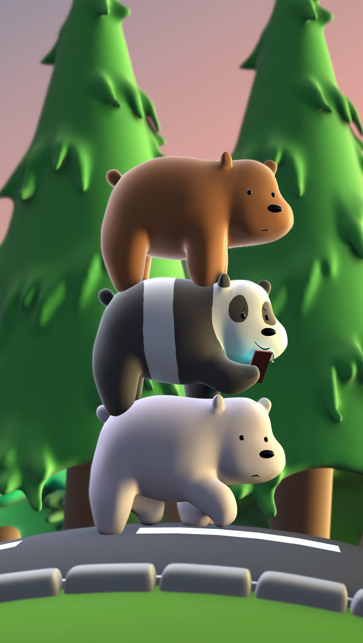 Wallpaper 3D We Bare Bears Vertical