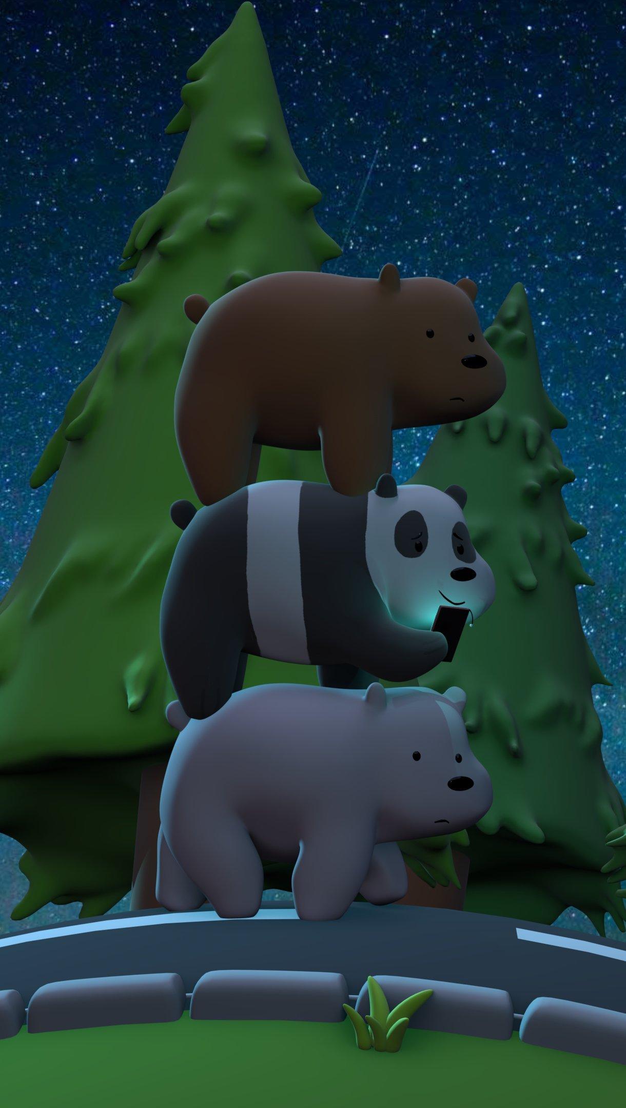 Fondos de pantalla 3D Escandalosos, Somos osos Vertical
