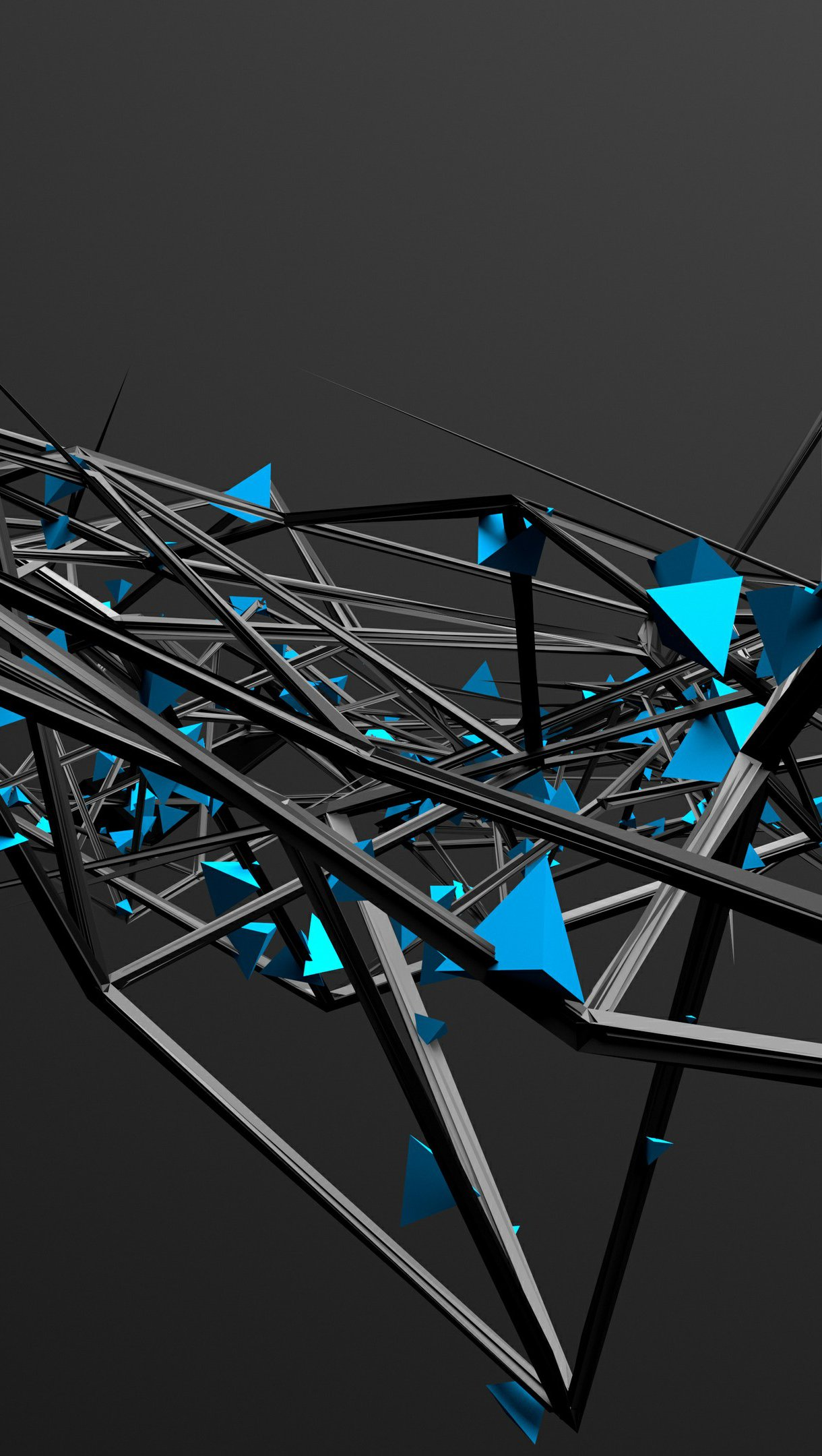 Wallpaper 3D Abstract Structure Vertical