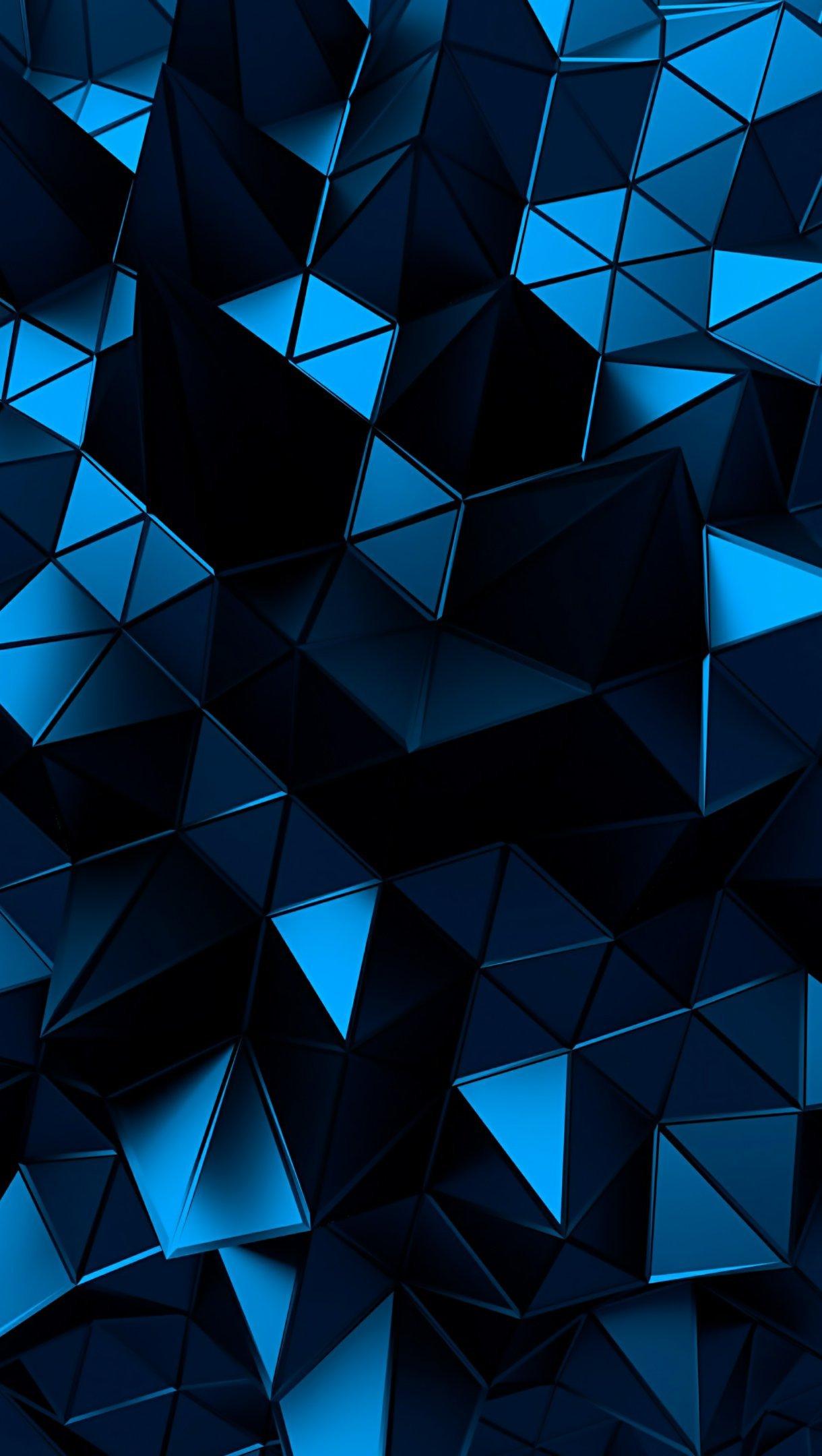 Fondos de pantalla 3D Low Poly polygonal Sphere Vertical