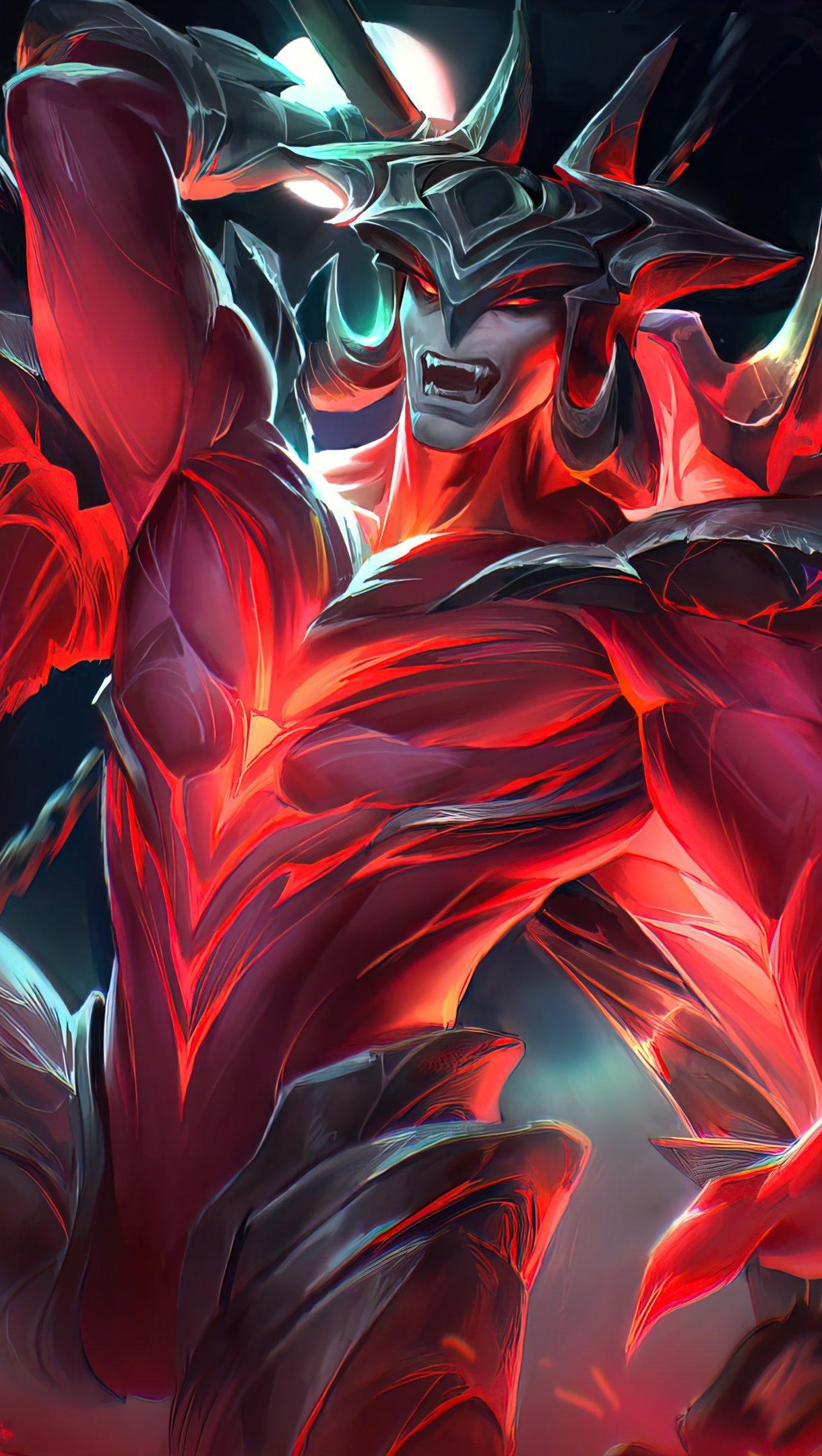 Wallpaper Aatrox League of Legends Vertical