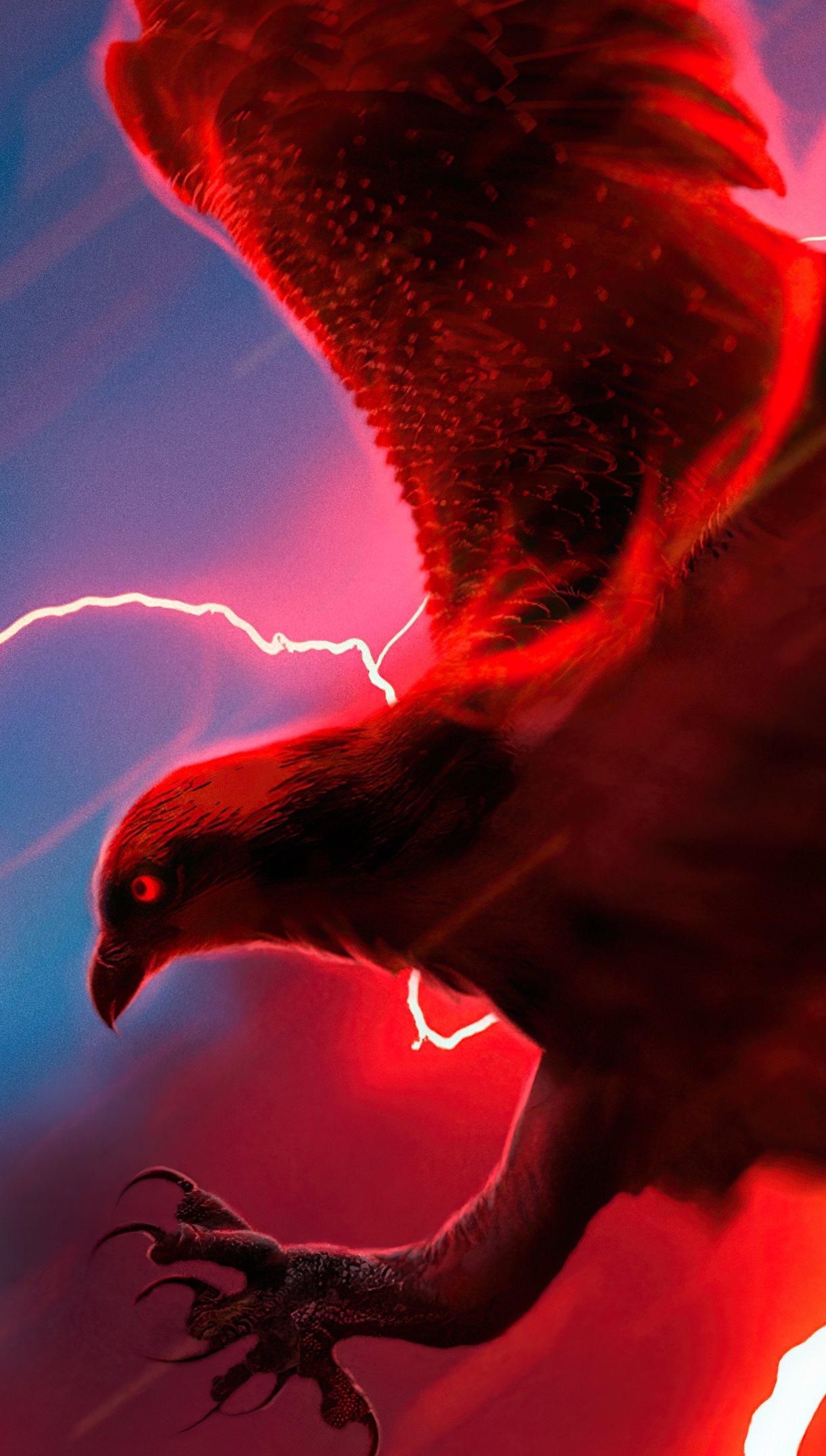 Fondos de pantalla Aguila con rayo de fondo Vertical