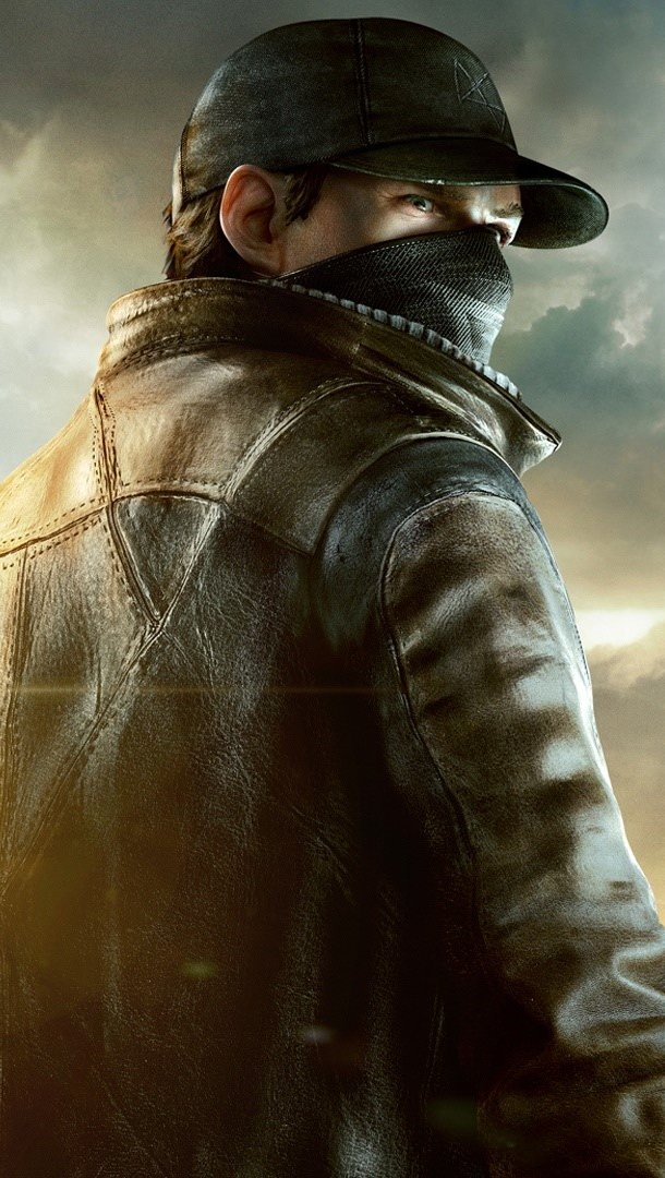 Wallpaper Aiden Pearce Vertical