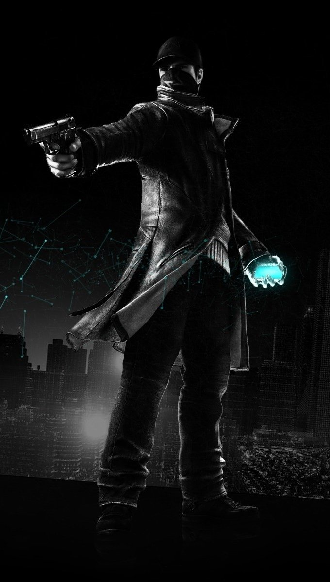 Wallpaper Aiden Pearce from Watch Dogs Vertical