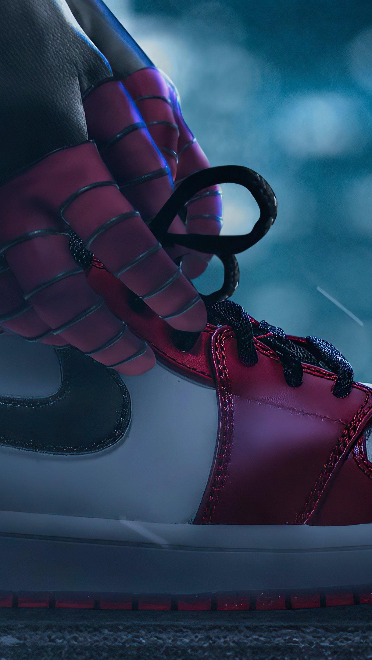 Fondos de pantalla Air Jordan Miles Morales como Spiderman Vertical