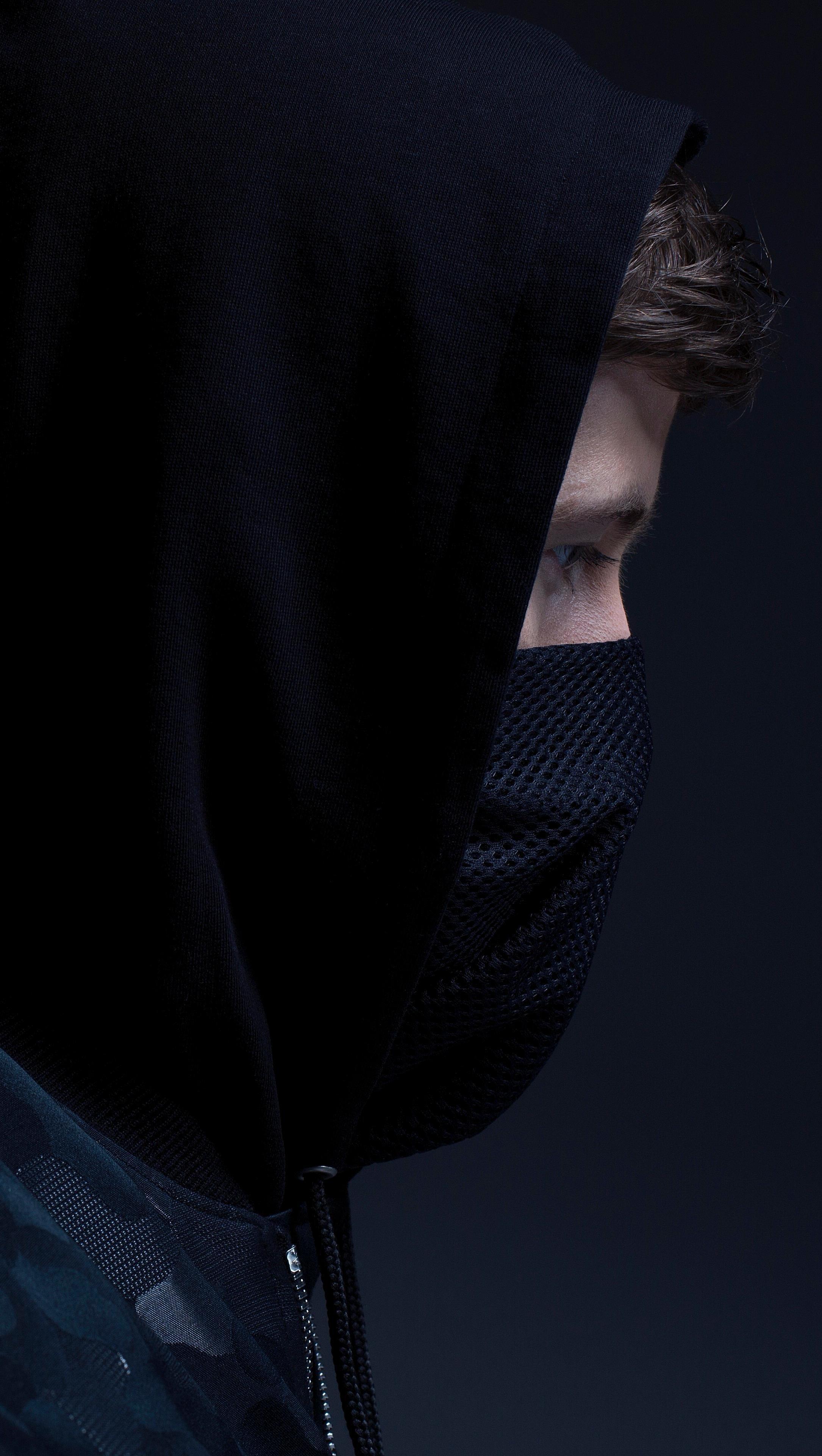 Fondos de pantalla Alan Walker con máscara Vertical