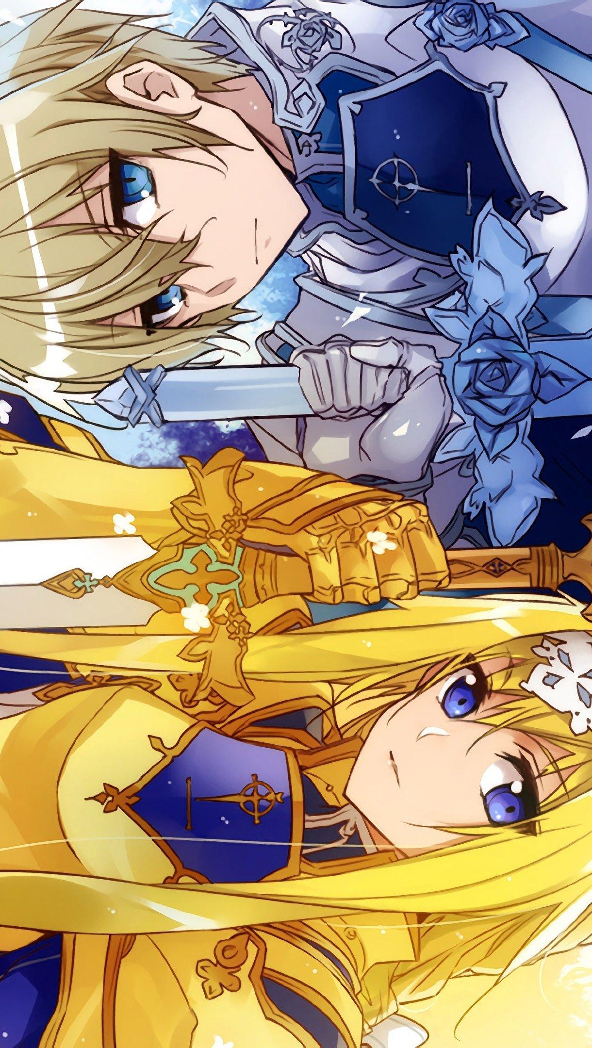 Fondos de pantalla Anime Alice y Eugeo Sao de Alicization Vertical