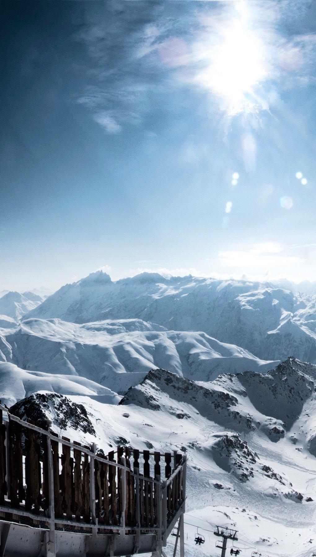 Fondos de pantalla Alpes con nieve Vertical