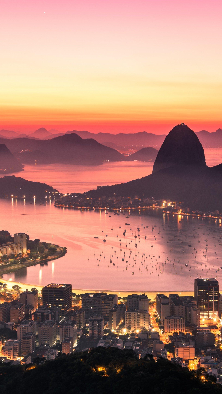 Fondos de pantalla Amanecer en Rio de Janeiro Vertical