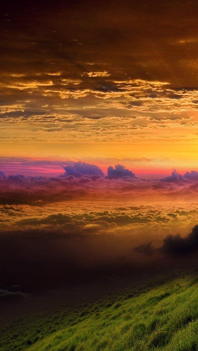 Wallpaper Sunrise on a mountain Vertical