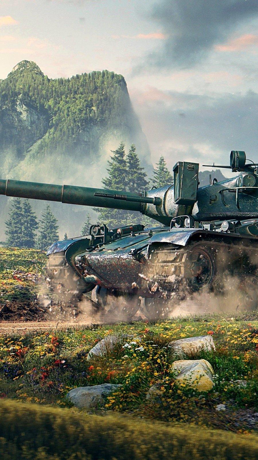 Wallpaper AMX 30 World of tanks Vertical