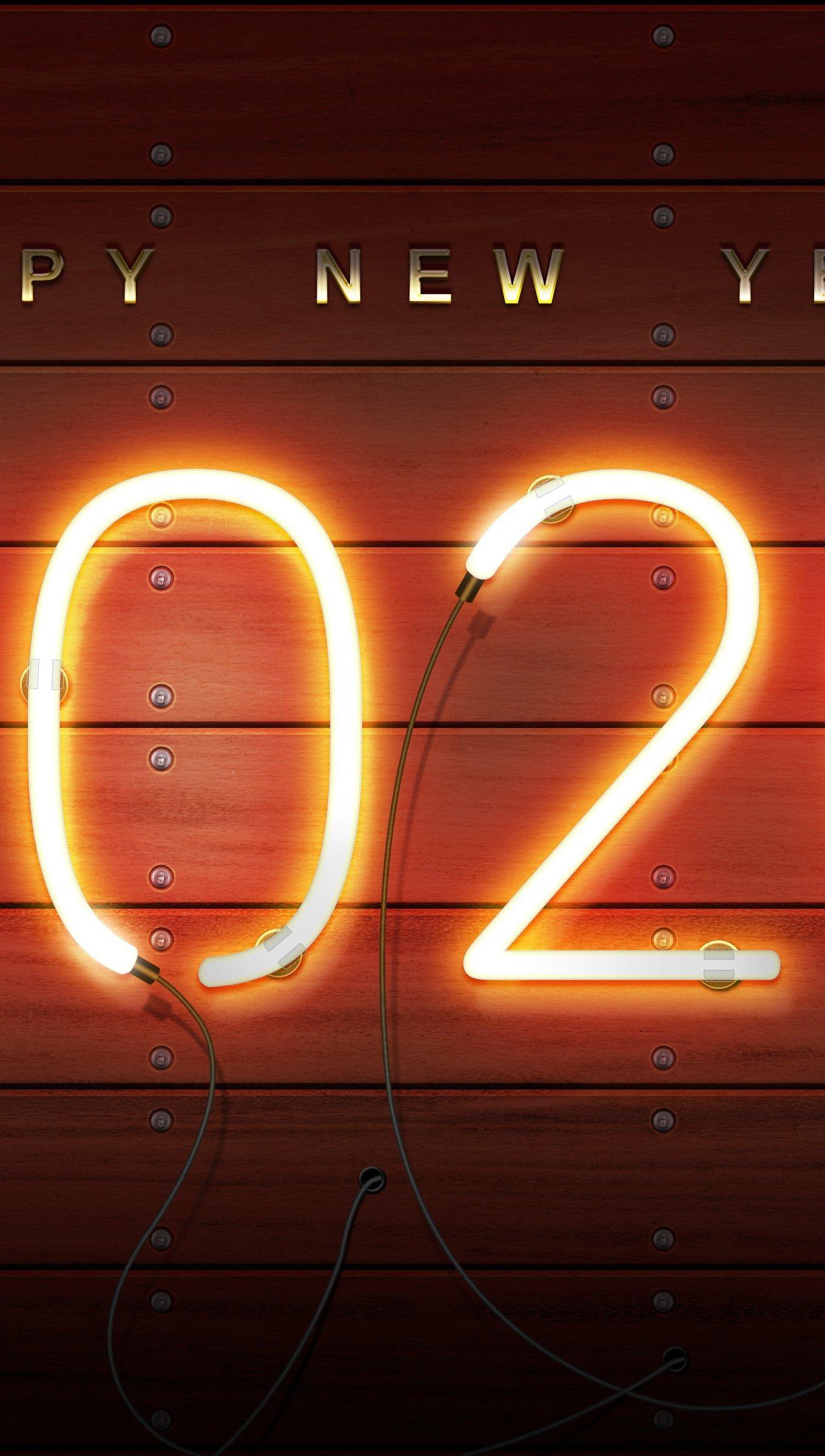 Wallpaper New Year 2020 Vertical
