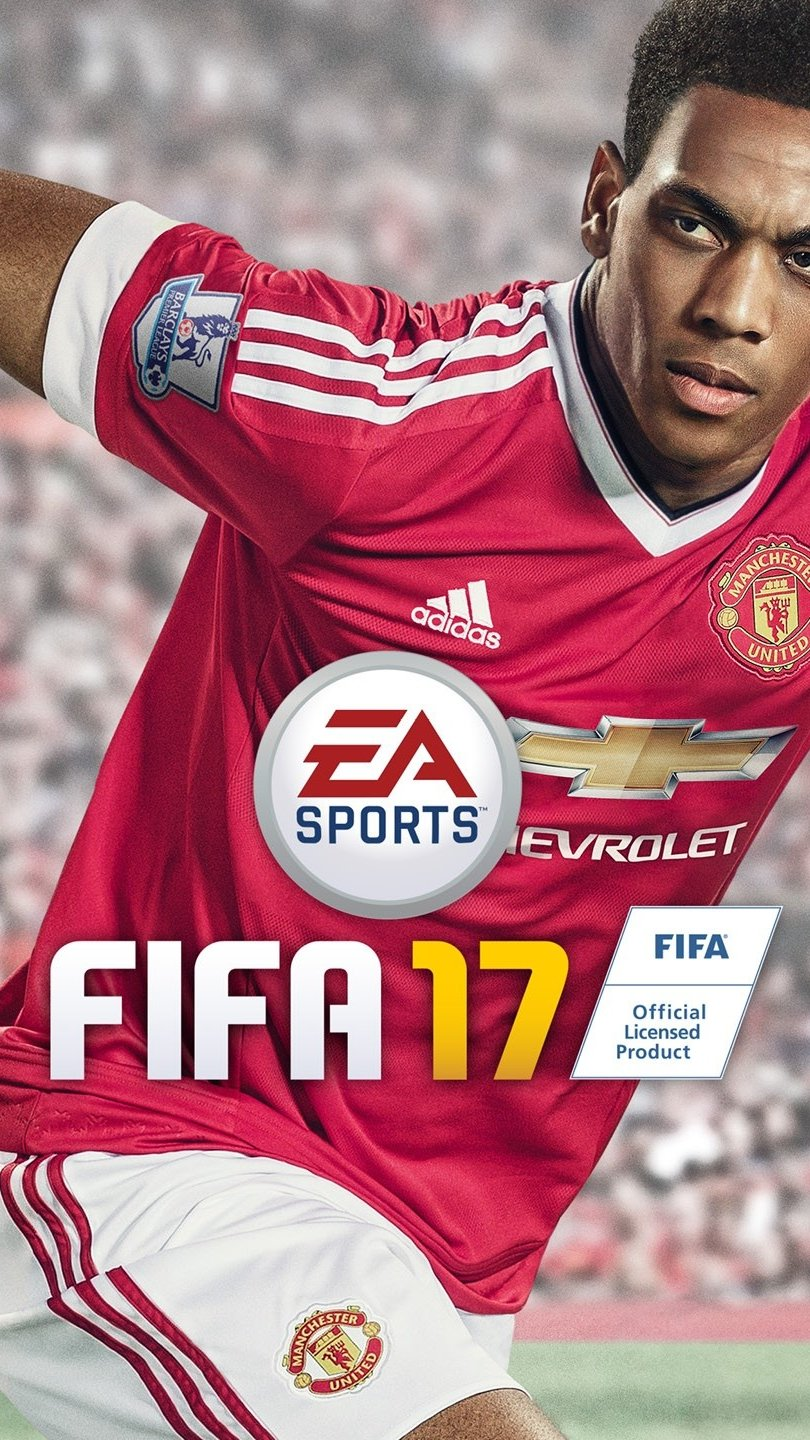 Wallpaper Anthony Martial in Fifa 17 Vertical