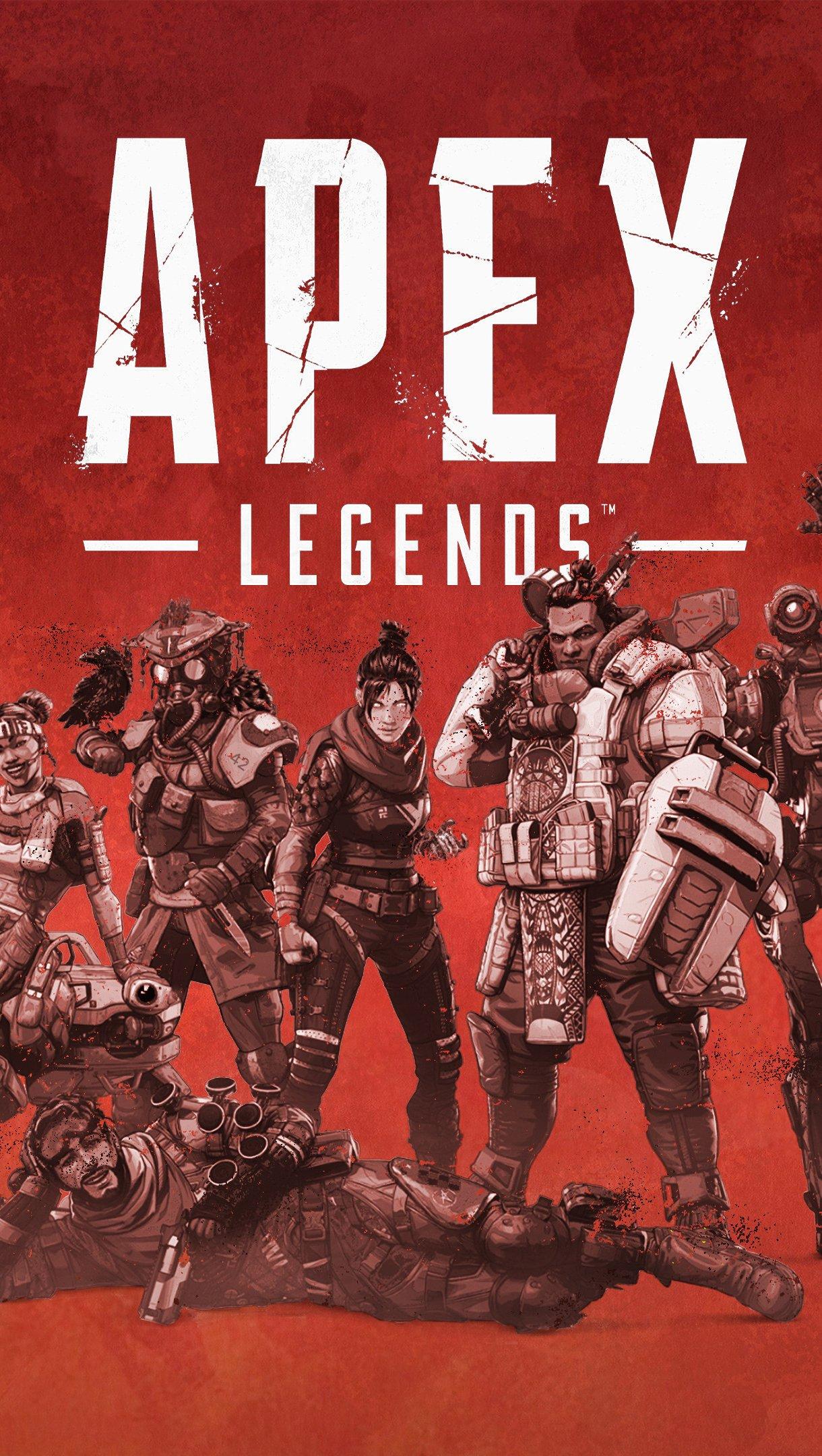 Wallpaper Apex Legends Characters Vertical