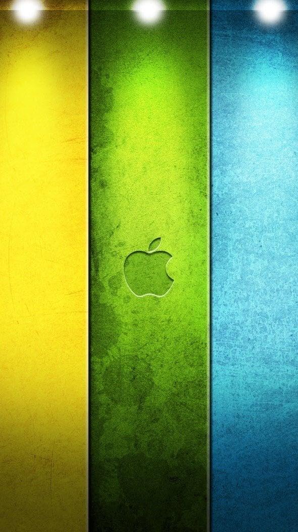 Wallpaper Apple in colors Vertical