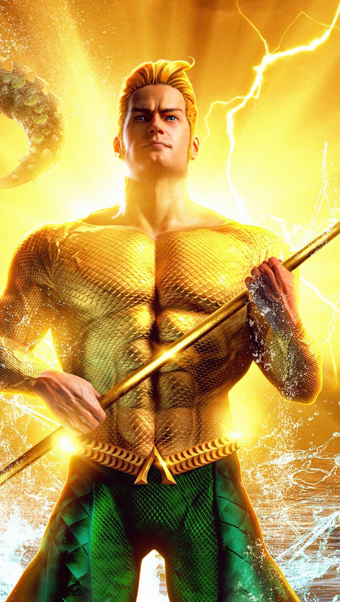 Fondos de pantalla Aquaman Comic Dorado Vertical