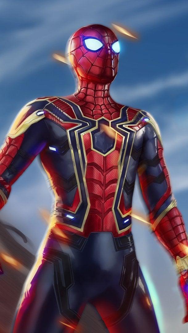 Wallpaper Iron Spiderman Avengers Infinity War Vertical