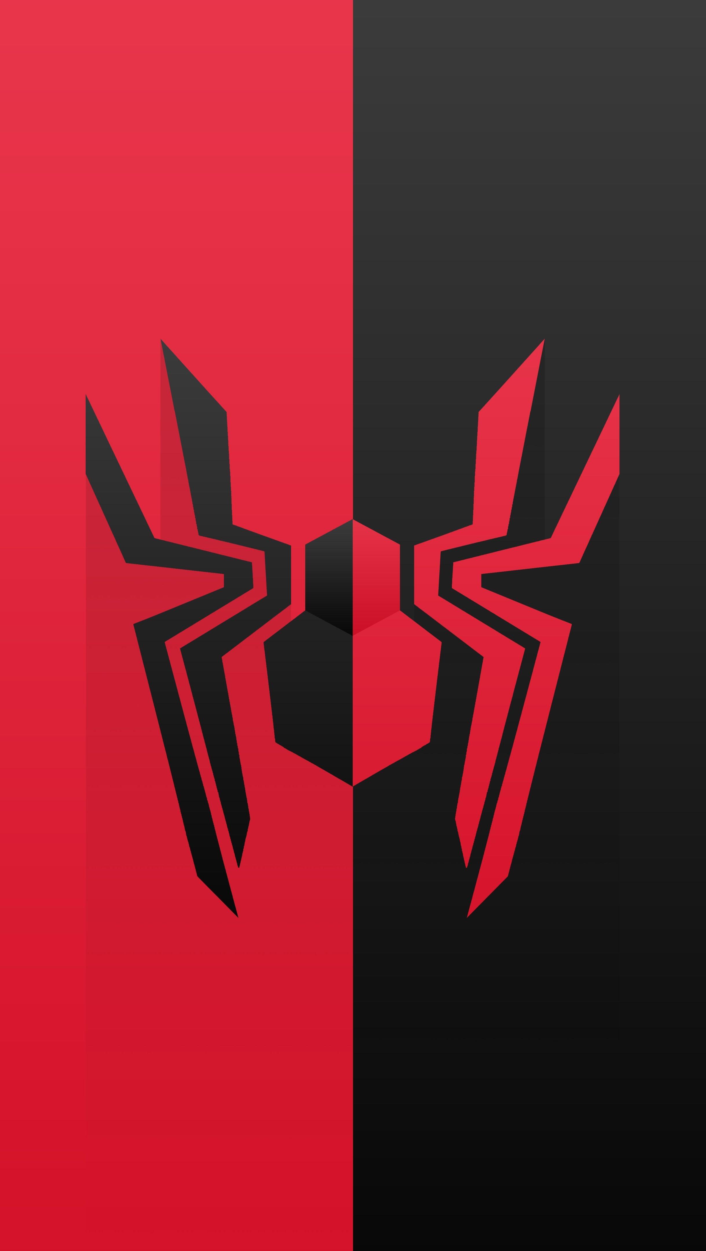 Wallpaper Spider from Spider Man Logo Vertical