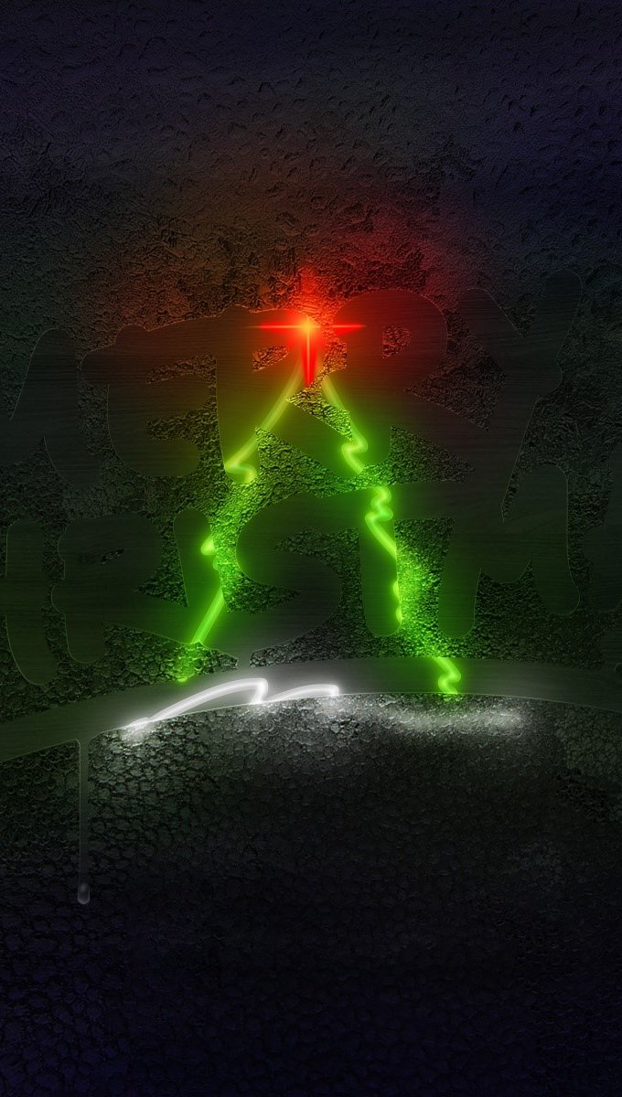 Wallpaper Christmas tree Vertical