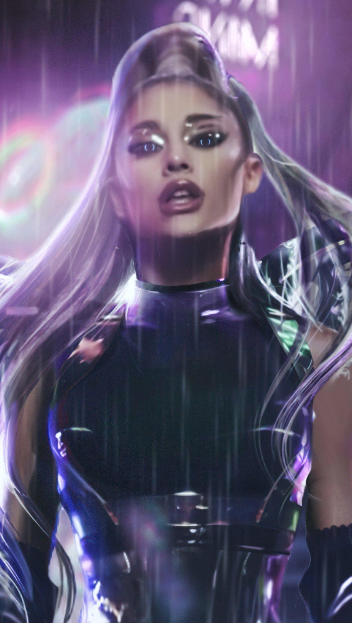 Wallpaper Ariana Grande Rain on me Vertical