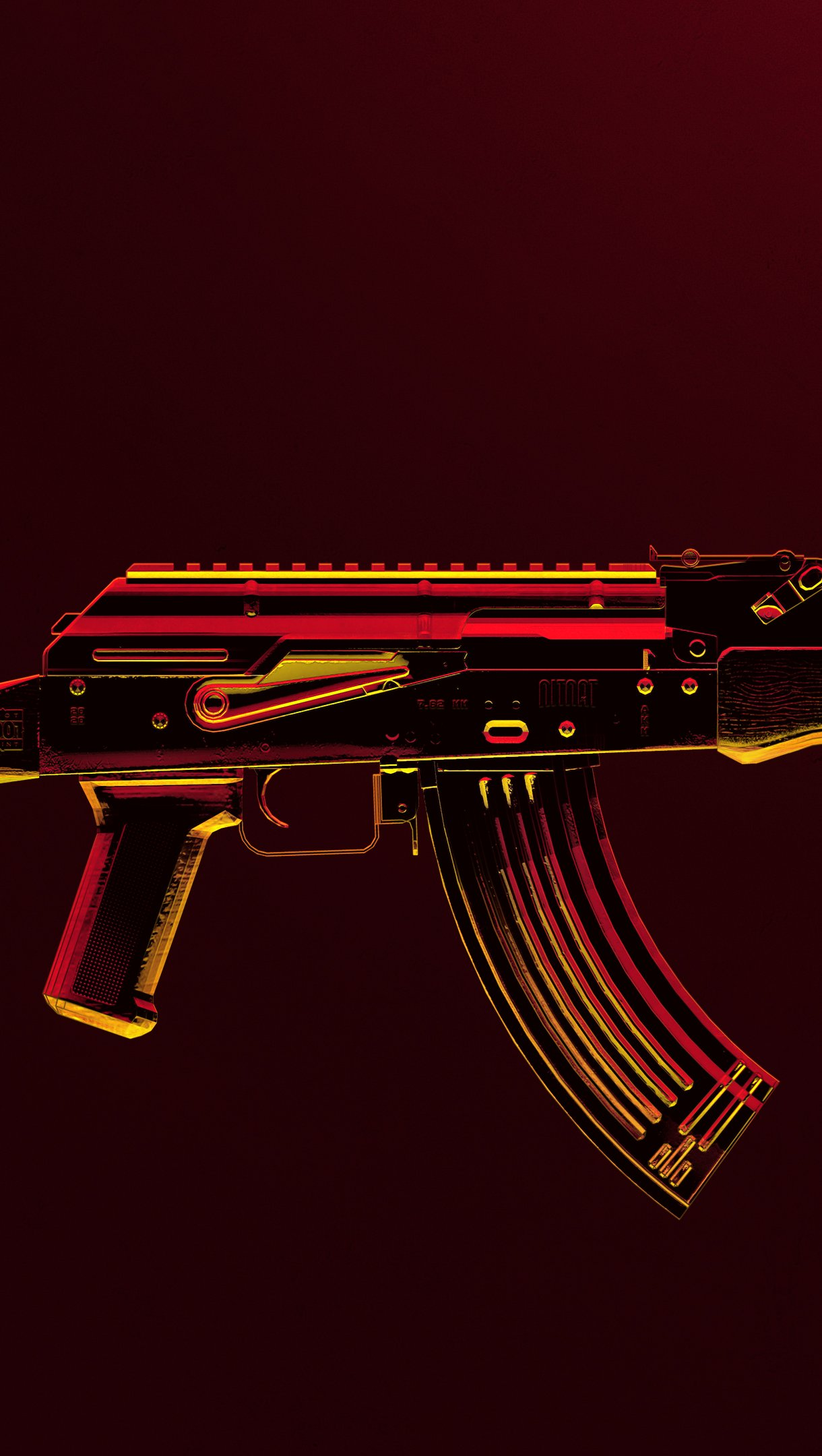 Fondos de pantalla Arma AK47 de PUBG Vertical