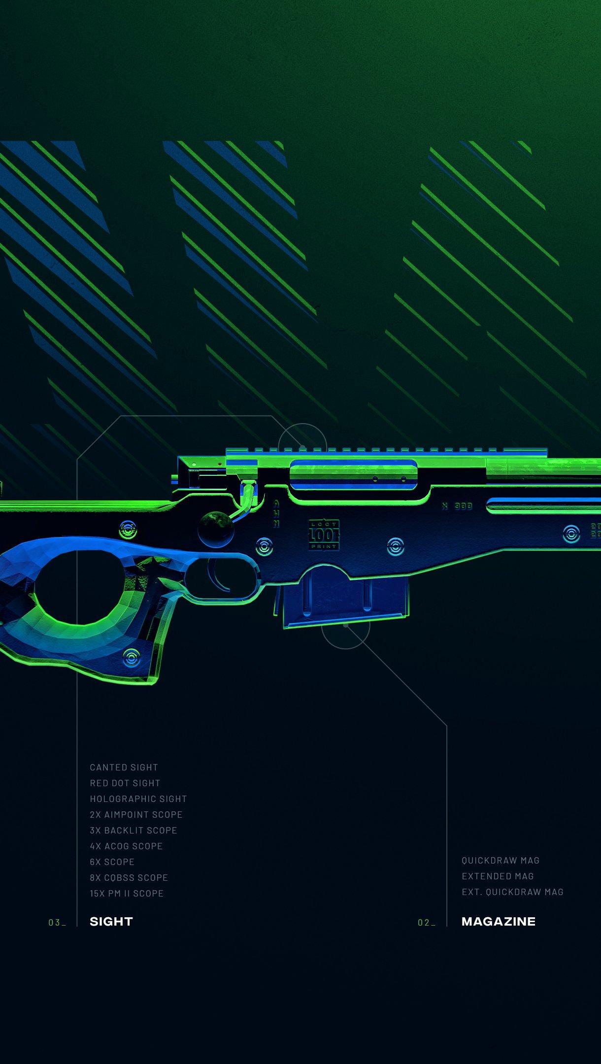 Fondos de pantalla Arma AWM de PUBG Vertical