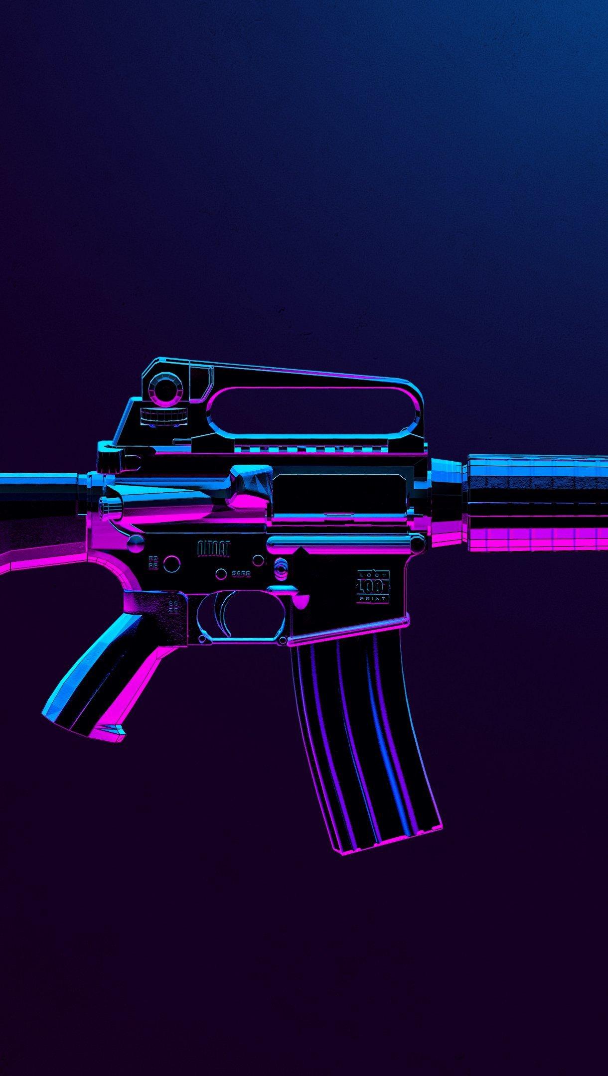 Fondos de pantalla Arma M16 de PUBG Vertical