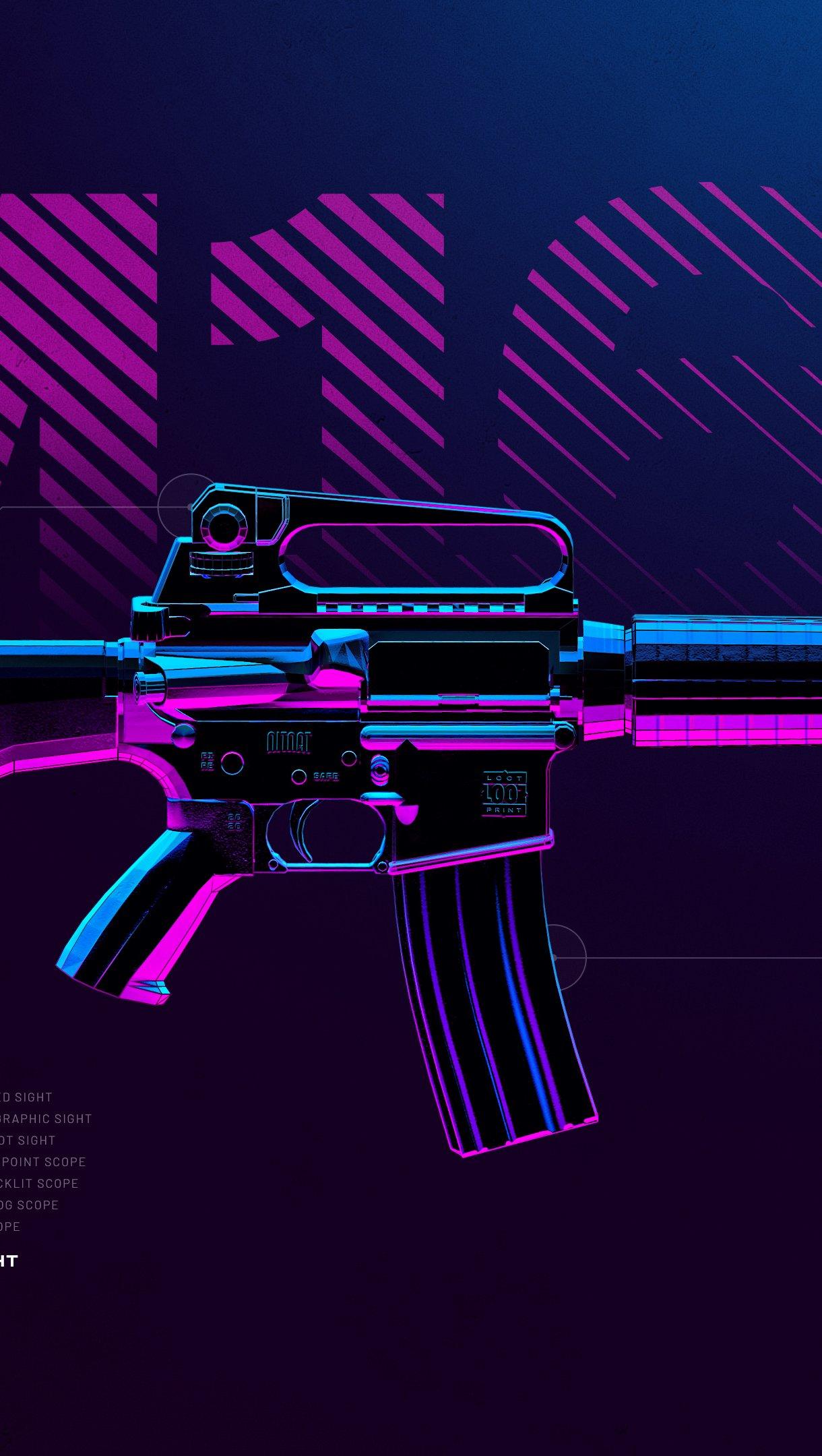 Fondos de pantalla Arma M16A4 de PUBG Vertical