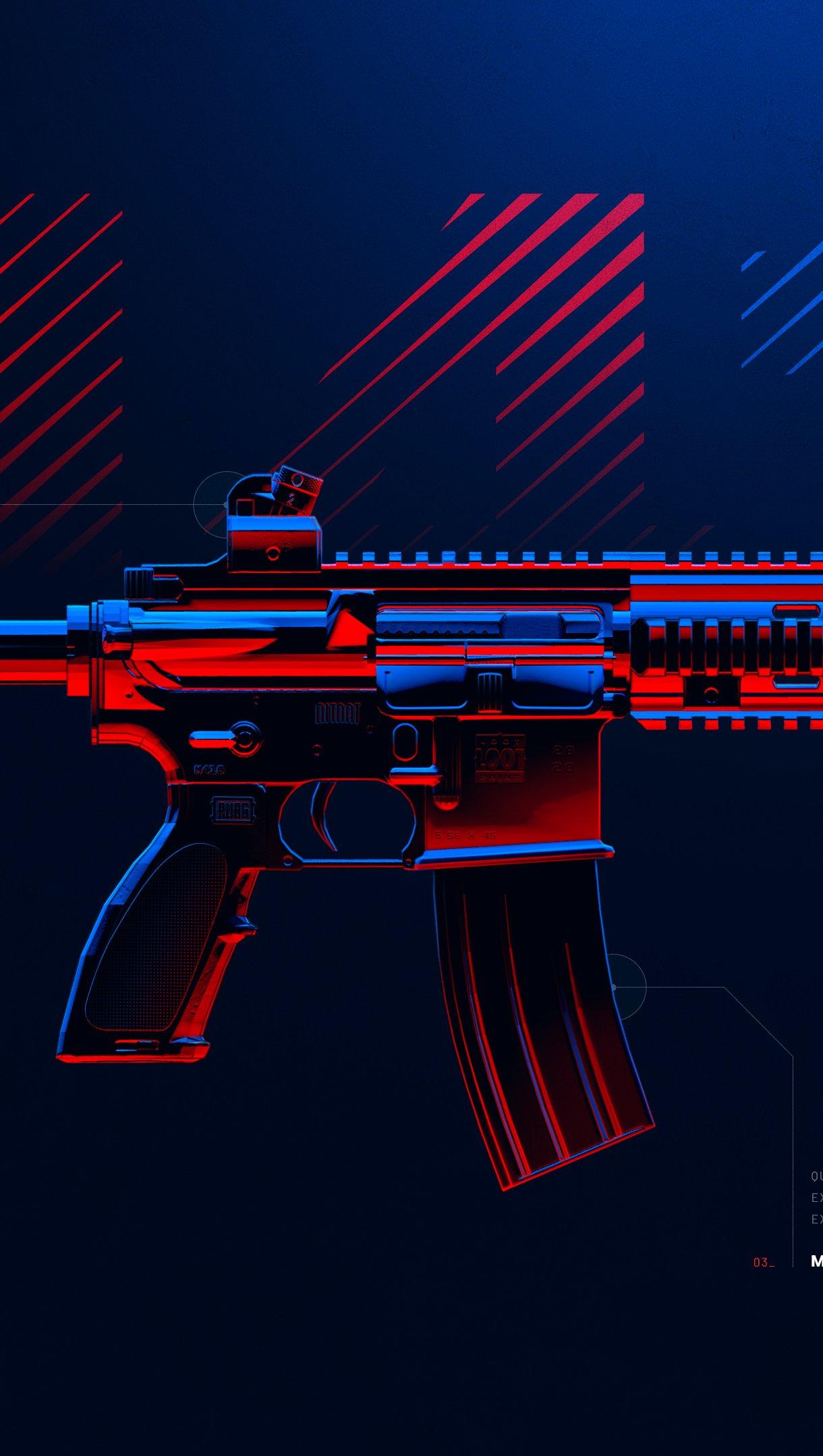 Fondos de pantalla Arma M416 de PUBG Vertical