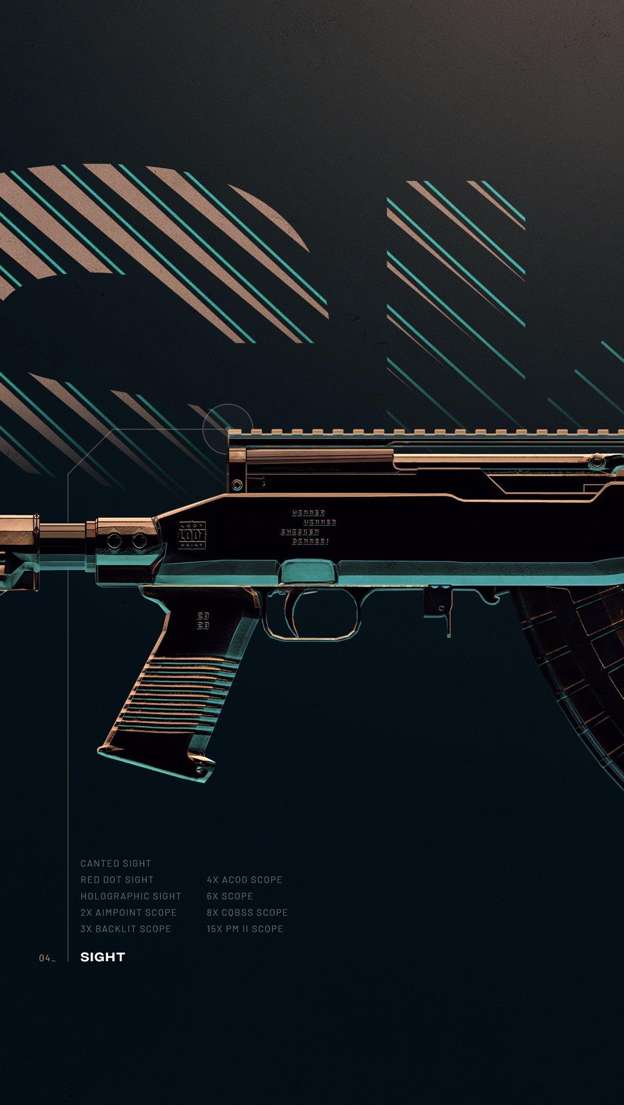 Fondos de pantalla Arma SKS de PUBG Vertical