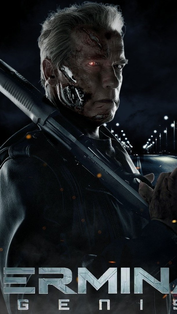 Wallpaper Arnold in Terminator Vertical