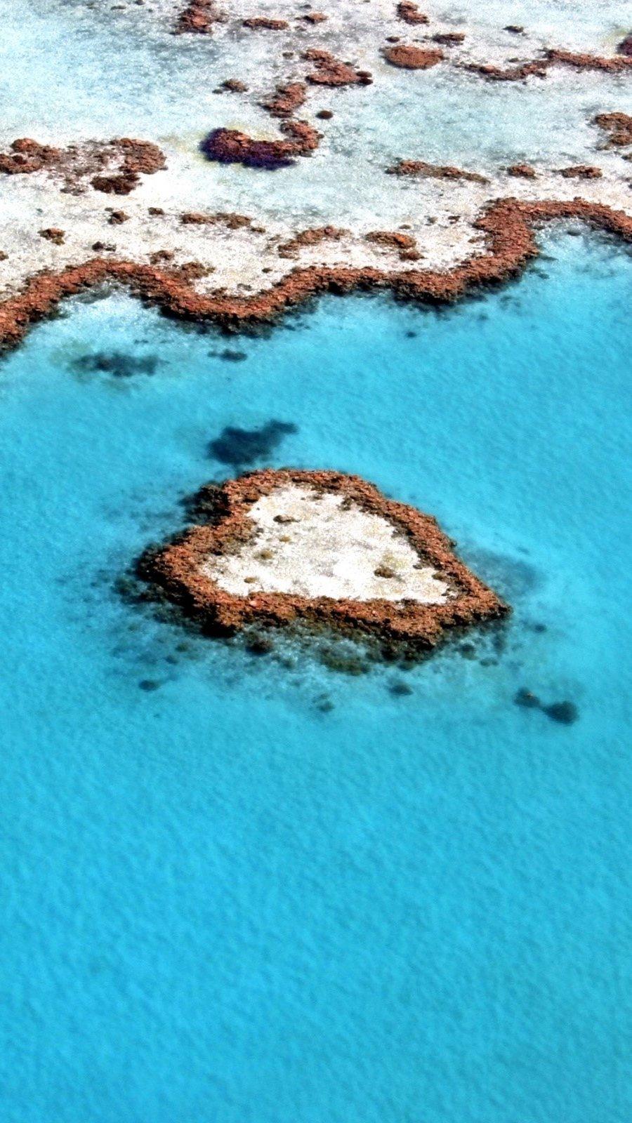 Fondos de pantalla Arrecife en forma de corazón Vertical
