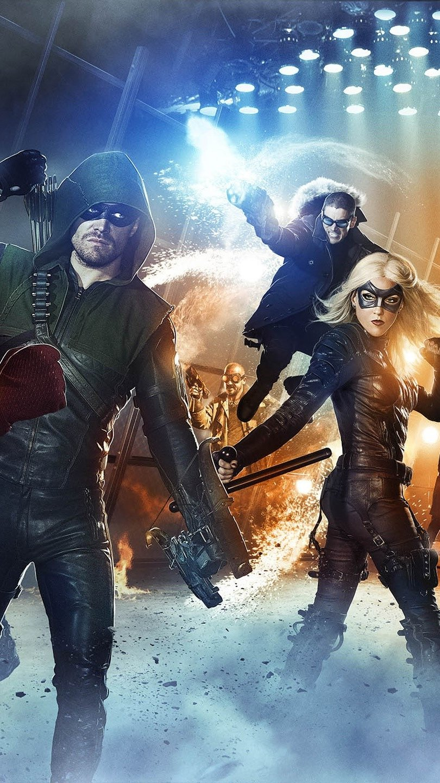 Fondos de pantalla Arrow y The flash Vertical