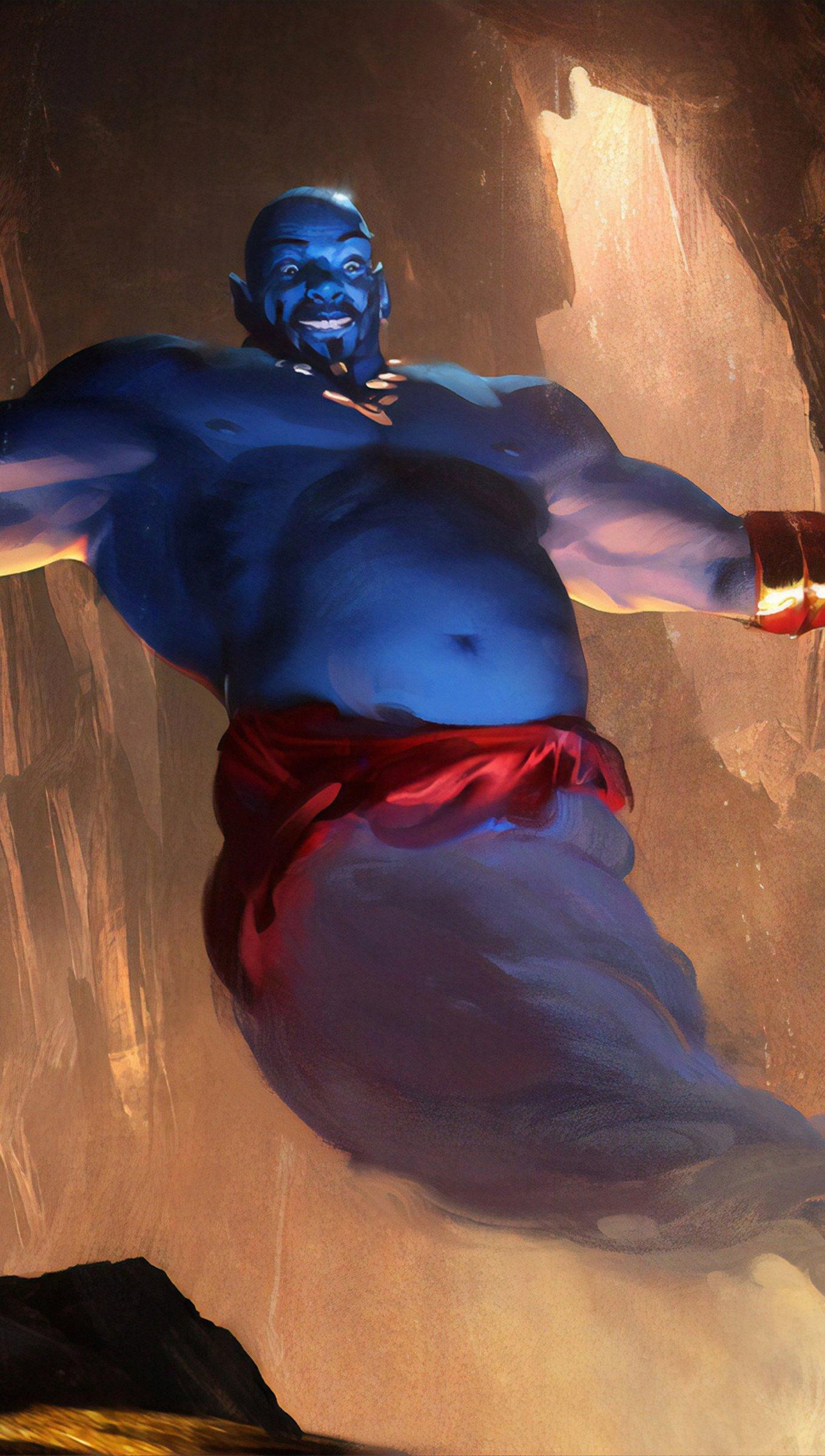 Fondos de pantalla Arte de la película de Aladdin Vertical