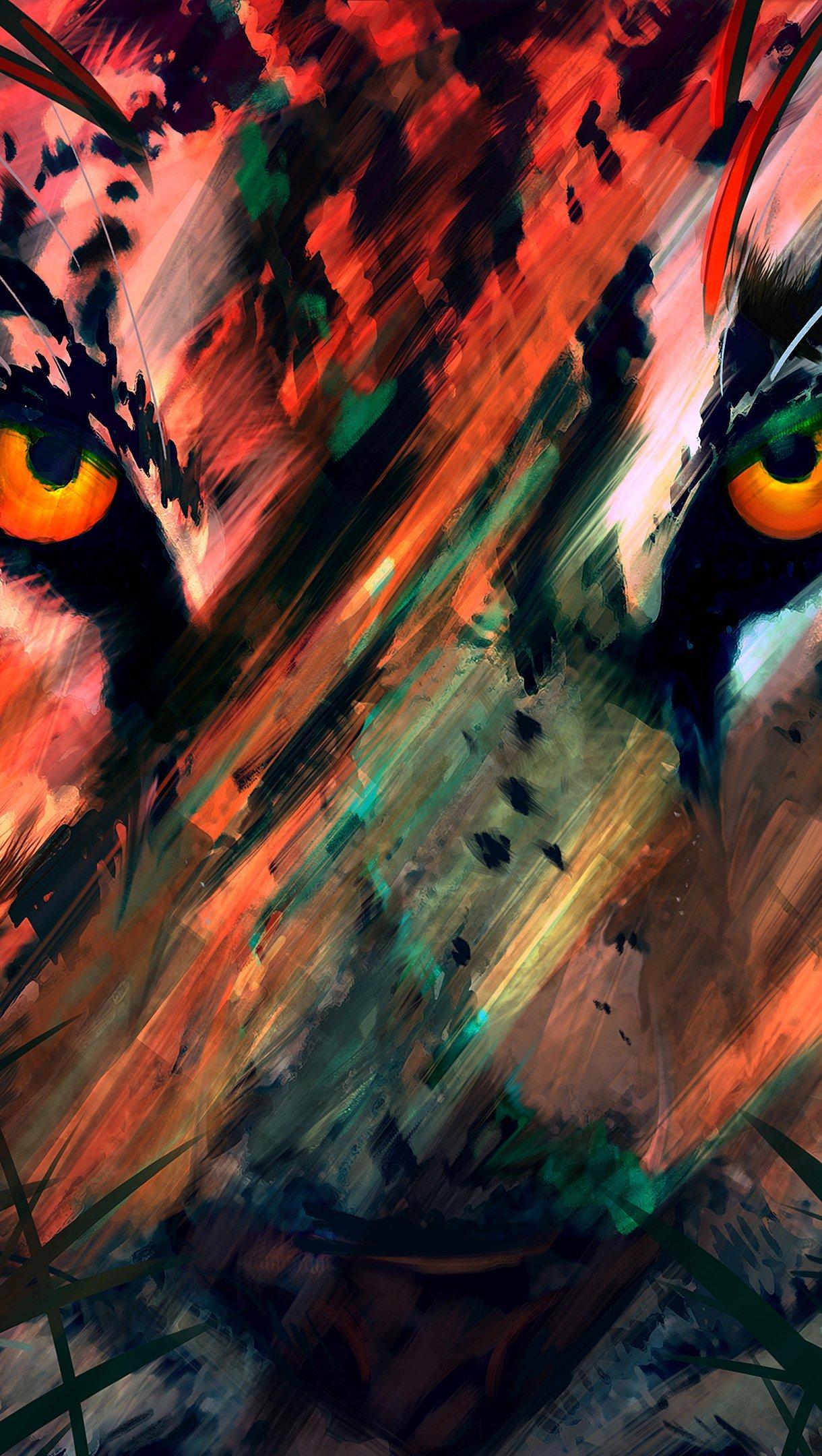 Fondos de pantalla Arte digital de tigre Vertical