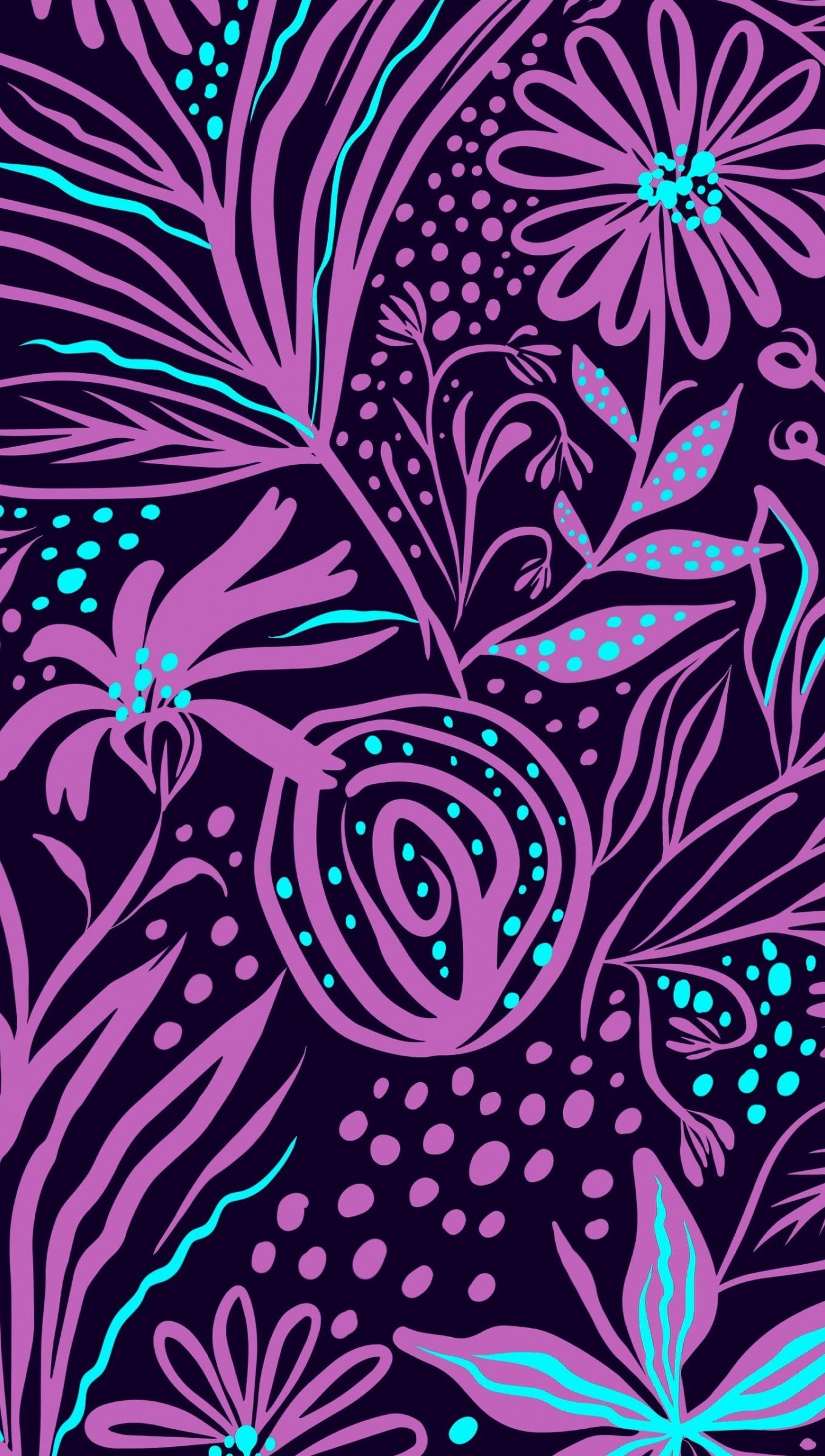 Fondos de pantalla Arte flores rosas con azul Vertical