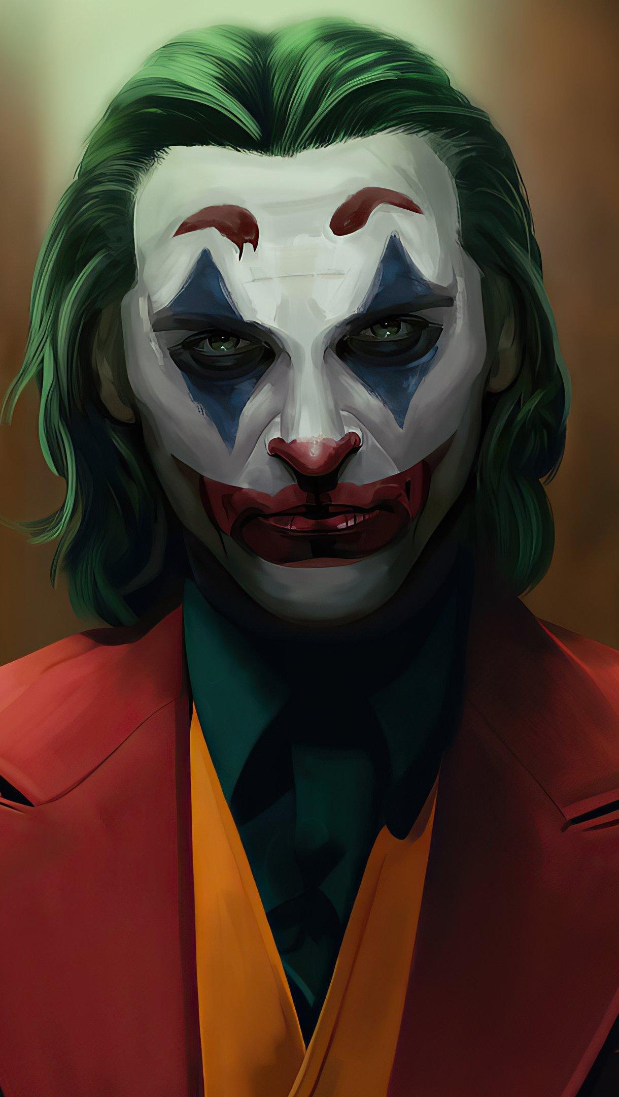 Wallpaper Joker Sketch Artwork Vertical