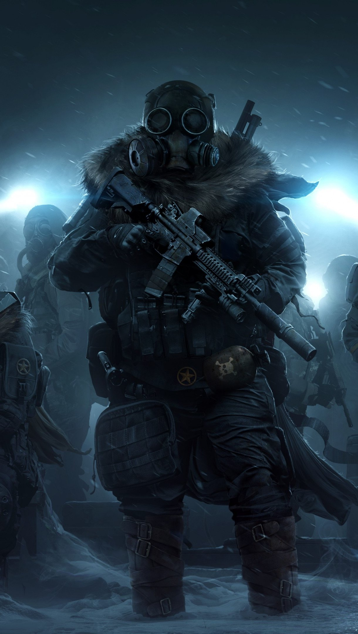 Wallpaper Artwork Wasteland 3 Vertical