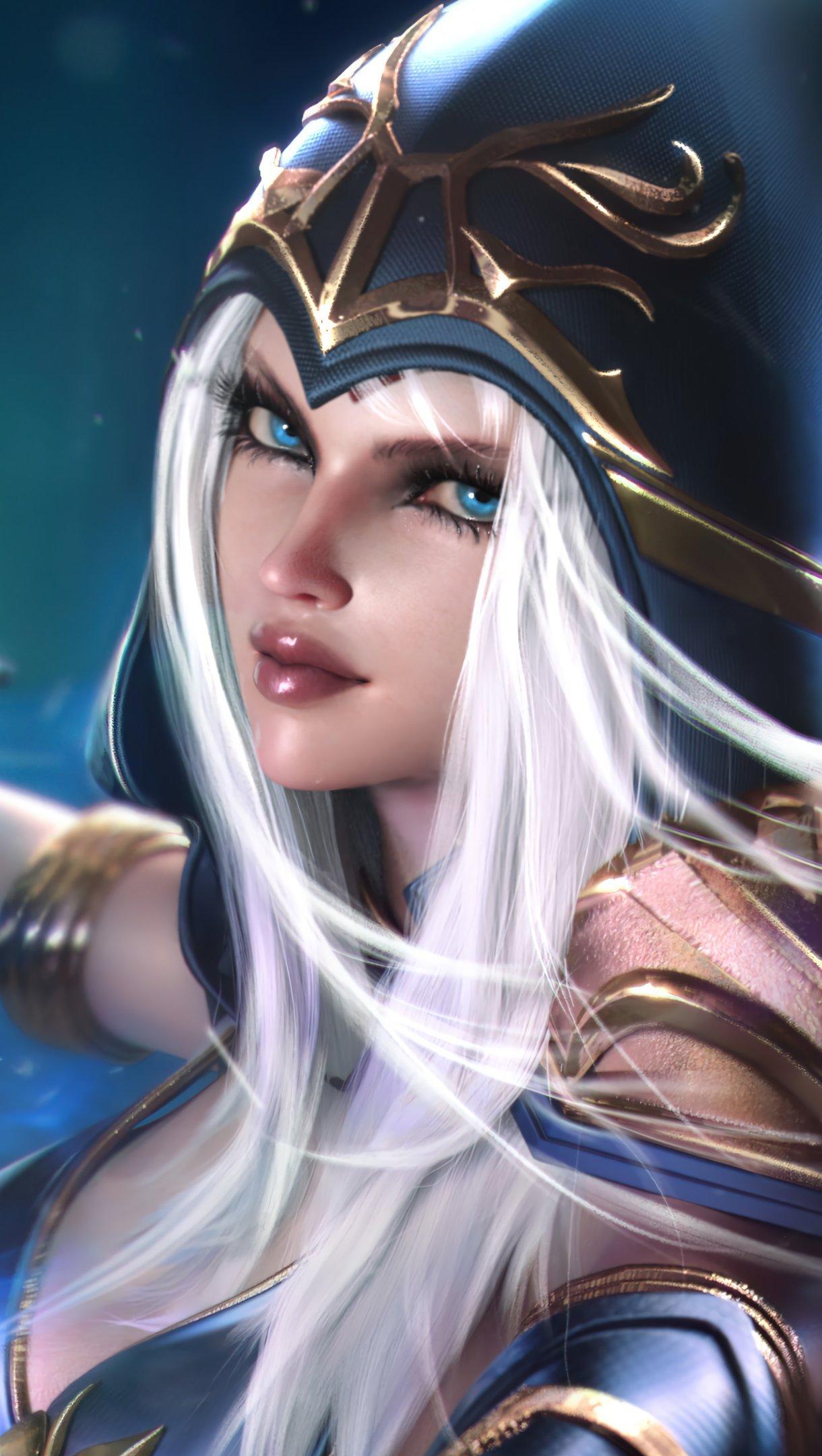 Wallpaper Ashe League of Legends Vertical
