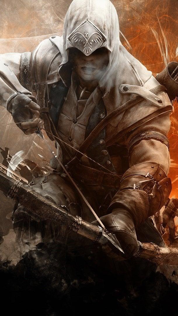 Wallpaper Assassins creed 3 Connor Vertical