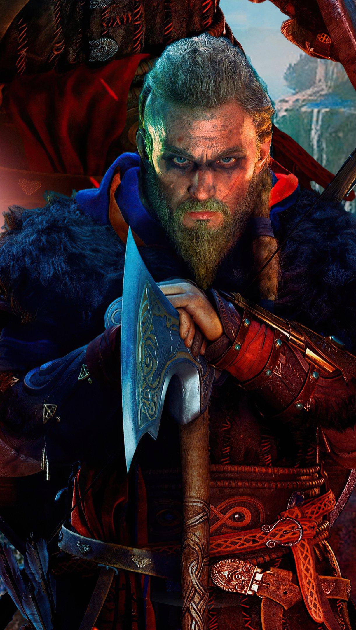 Wallpaper Assassins Creed Valhalla PS5 2021 Vertical